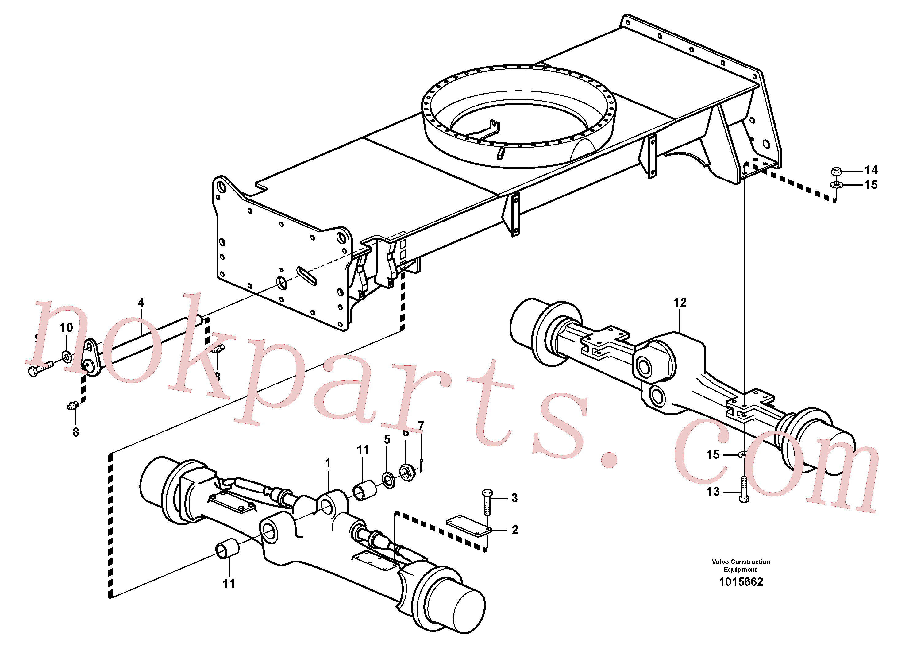 PJ4410041 for Volvo Planet axles with fitting parts(1015662 assembly)