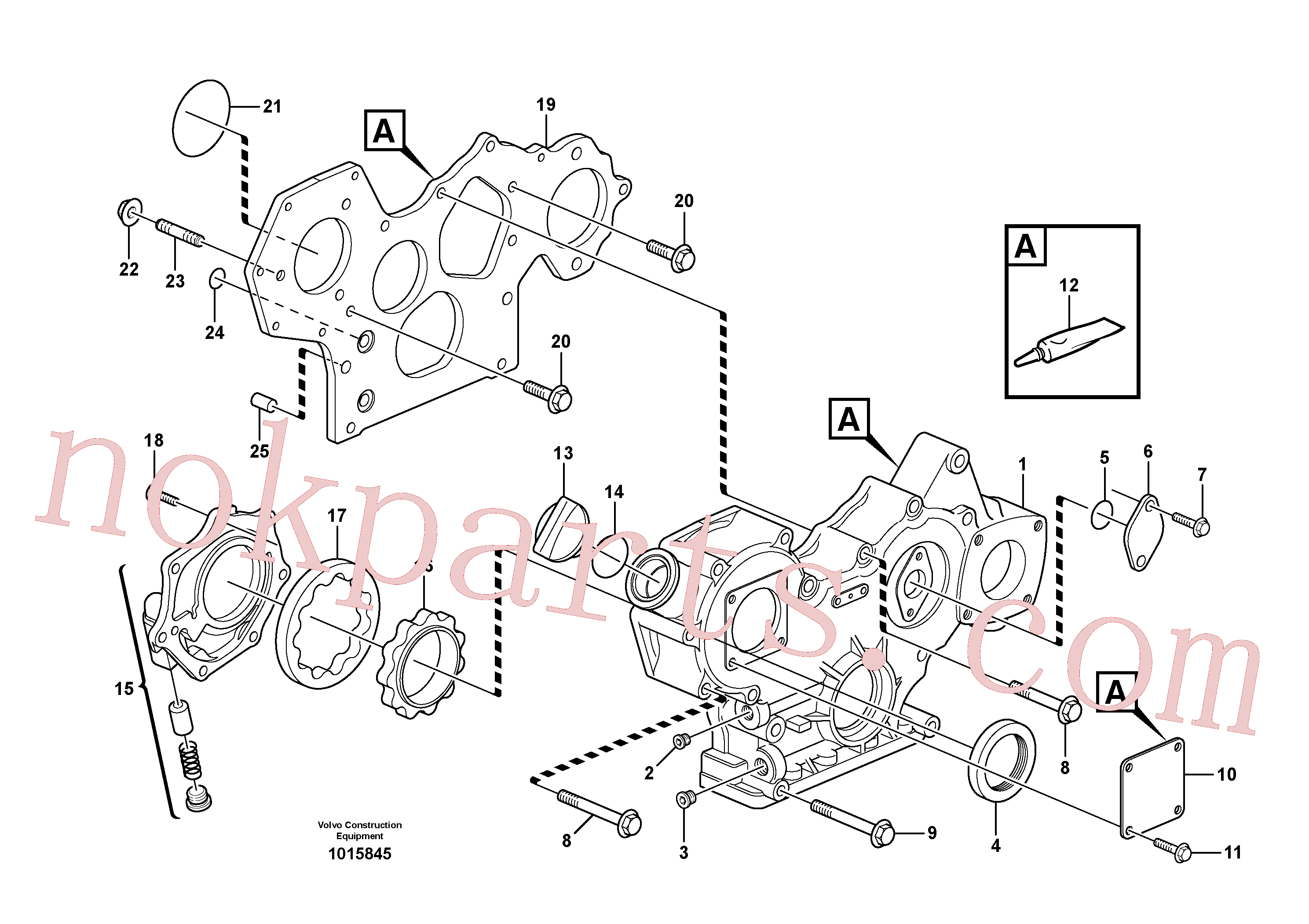 VOE1161231 for Volvo Timing gear casing and gears(1015845 assembly)