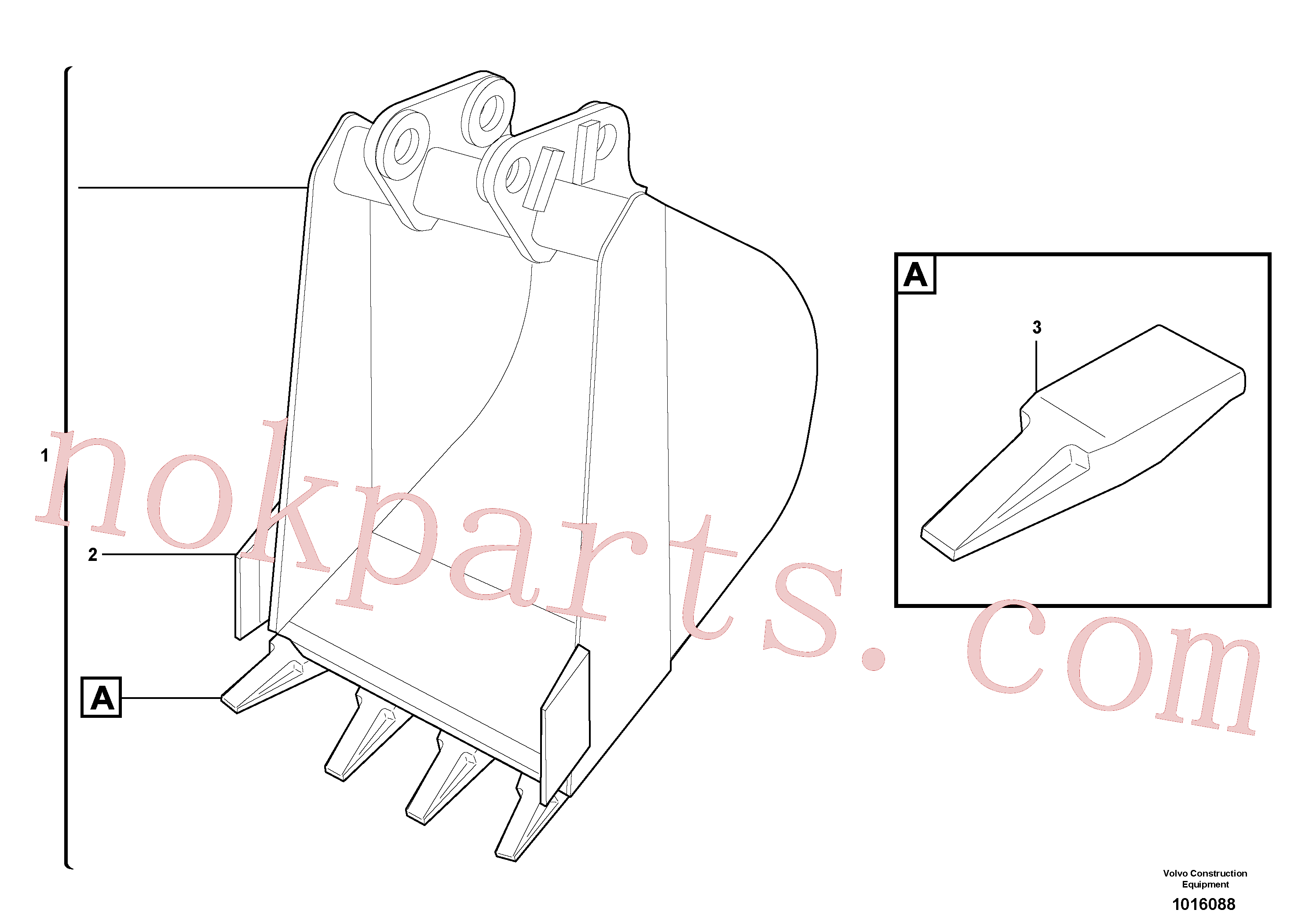 VOE11806652 for Volvo Bucket(1016088 assembly)