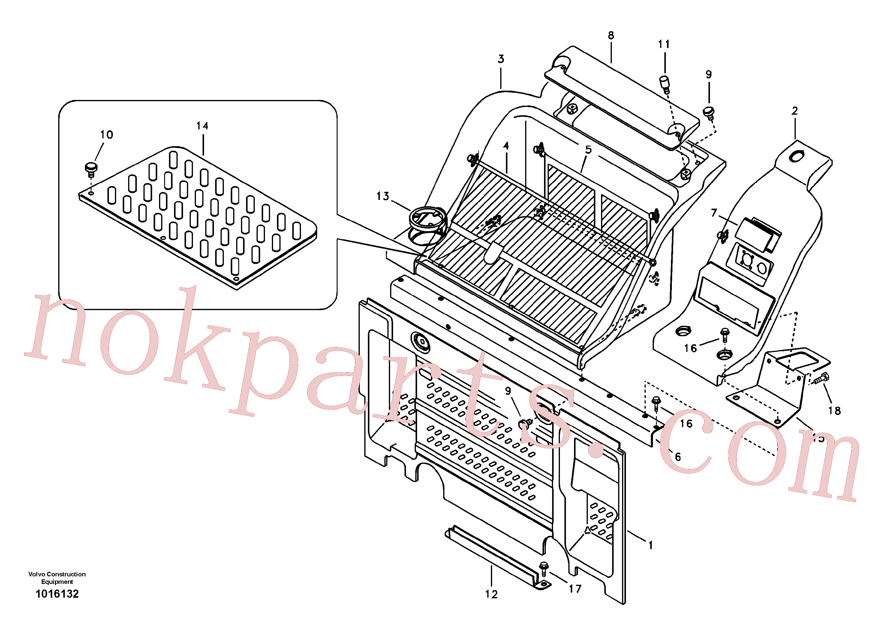 VOE13946441 for Volvo Instrument panel, radio panel(1016132 assembly)