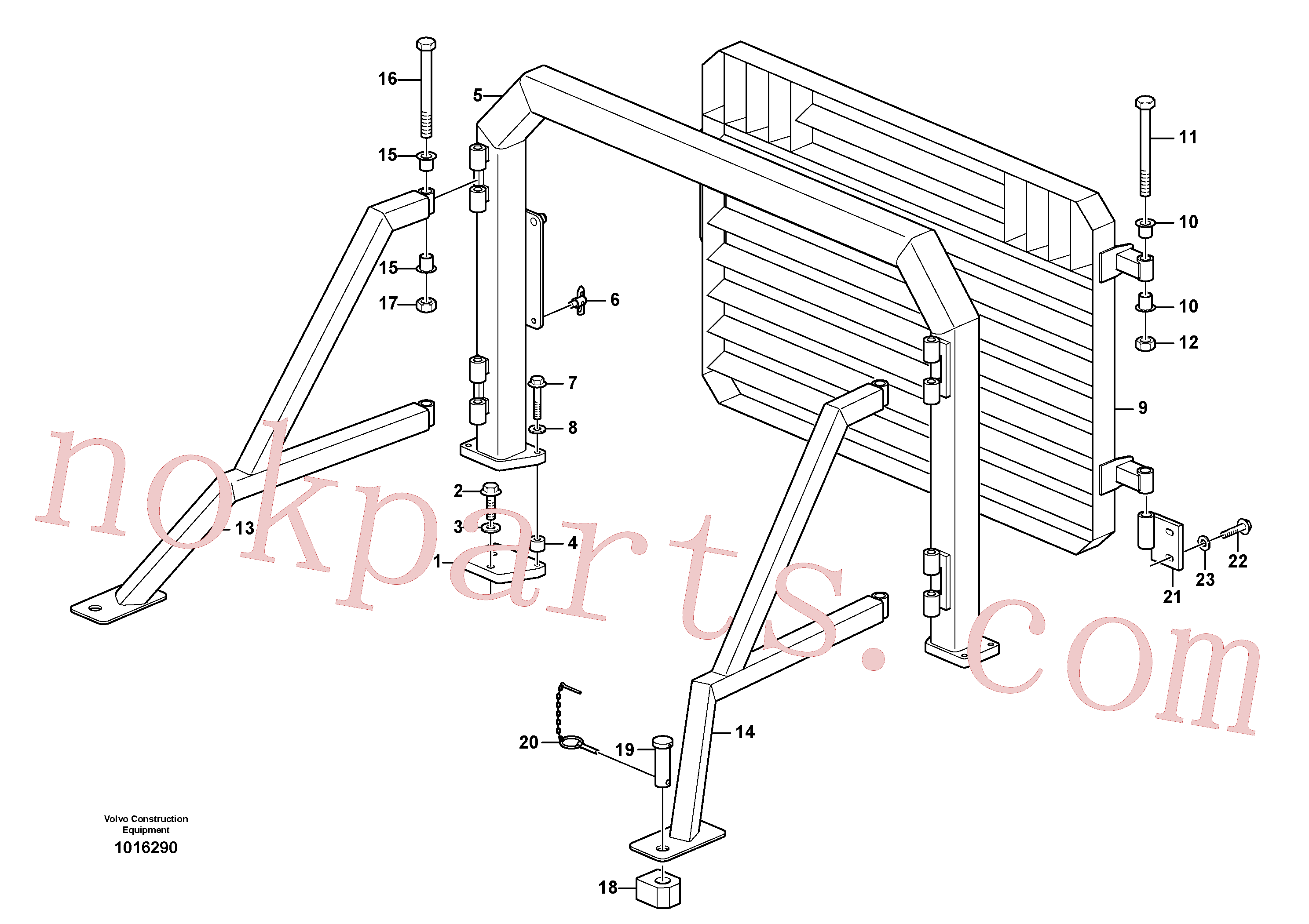 VOE960145 for Volvo Grille guard, radiator.(1016290 assembly)
