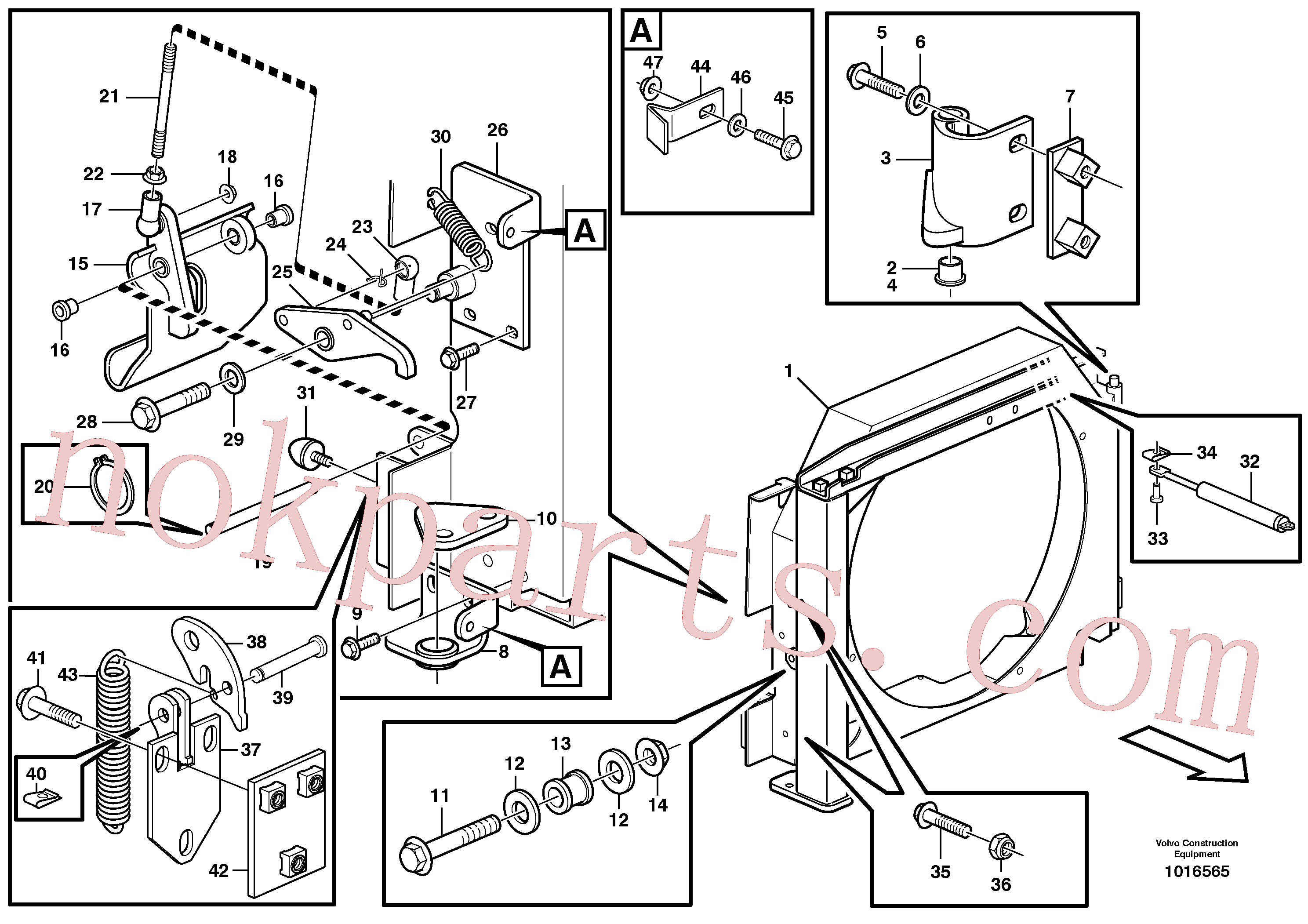 VOE4881758 for Volvo Fan housing with fitting parts(1016565 assembly)