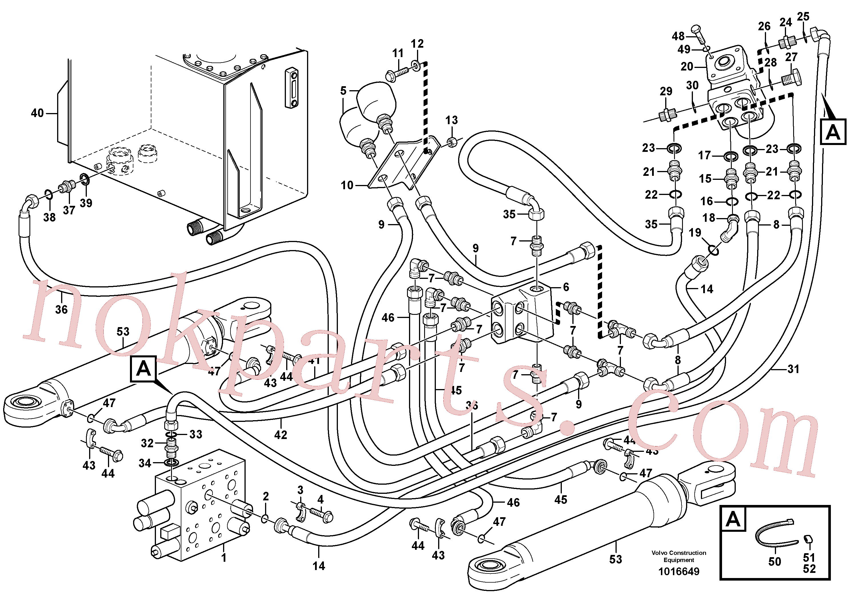 VOE14370253 for Volvo Steering system, pressure and return lines(1016649 assembly)
