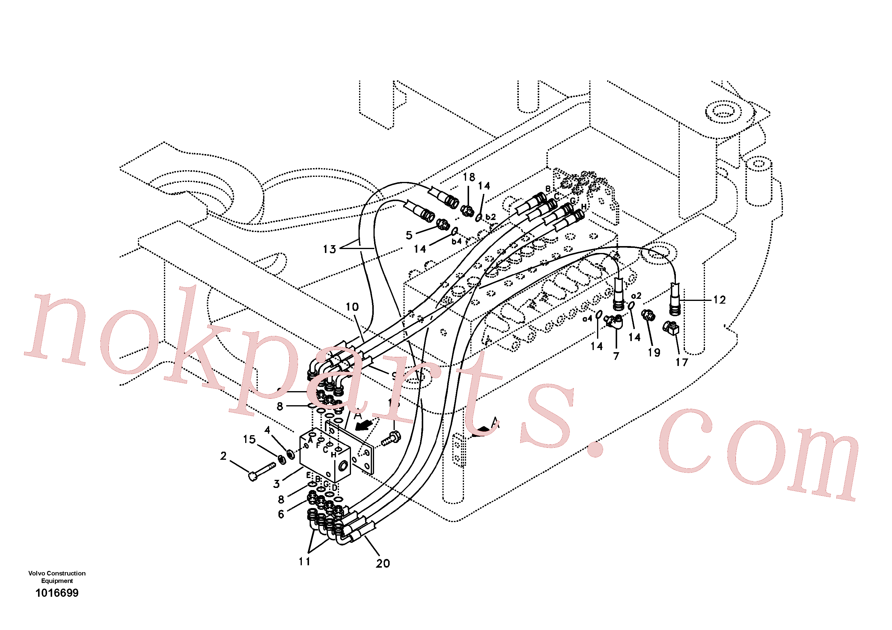 VOE14535588 for Volvo Servo system, changing lever function(1016699 assembly)