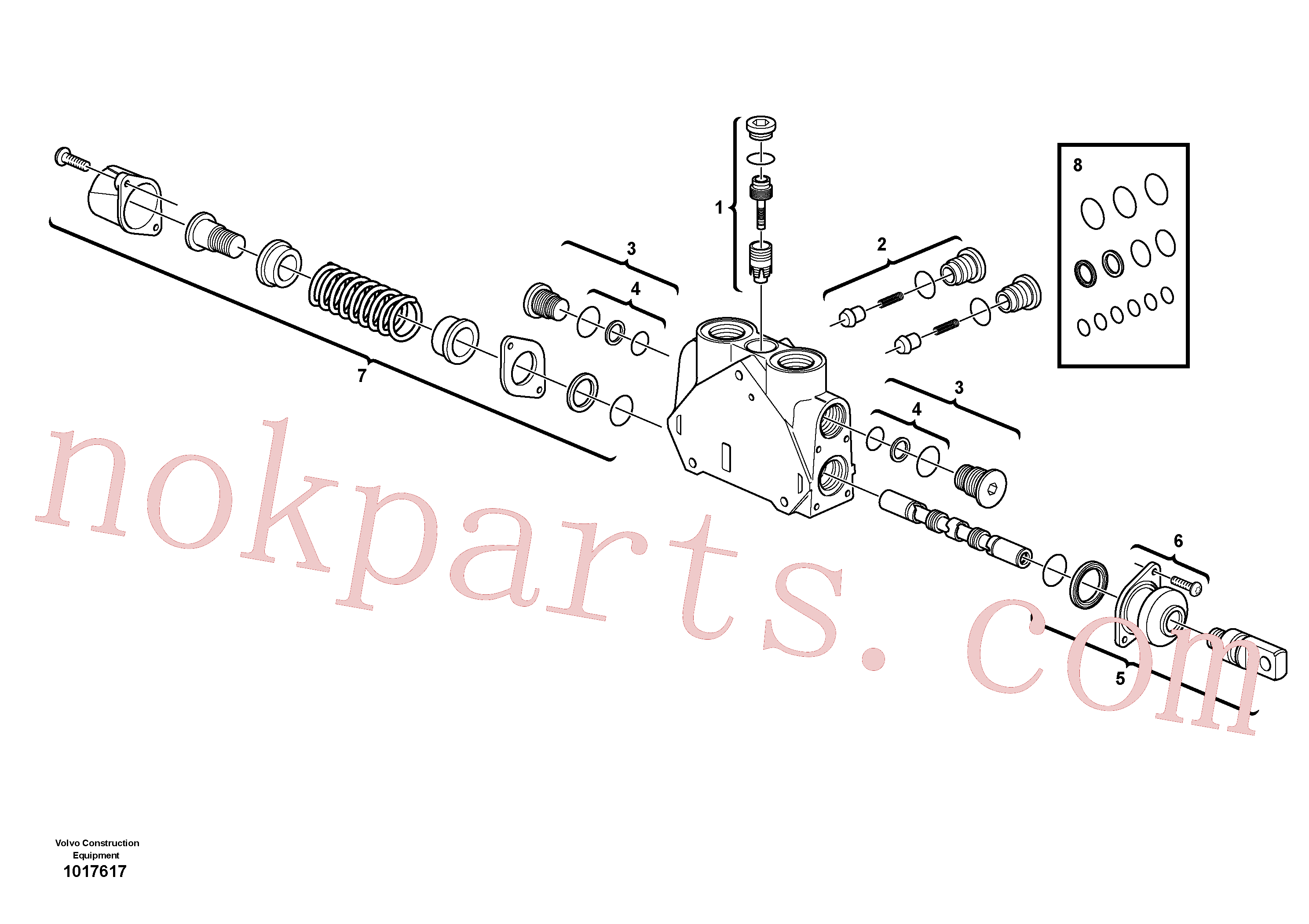 VOE11715276 for Volvo Valve section(1017617 assembly)