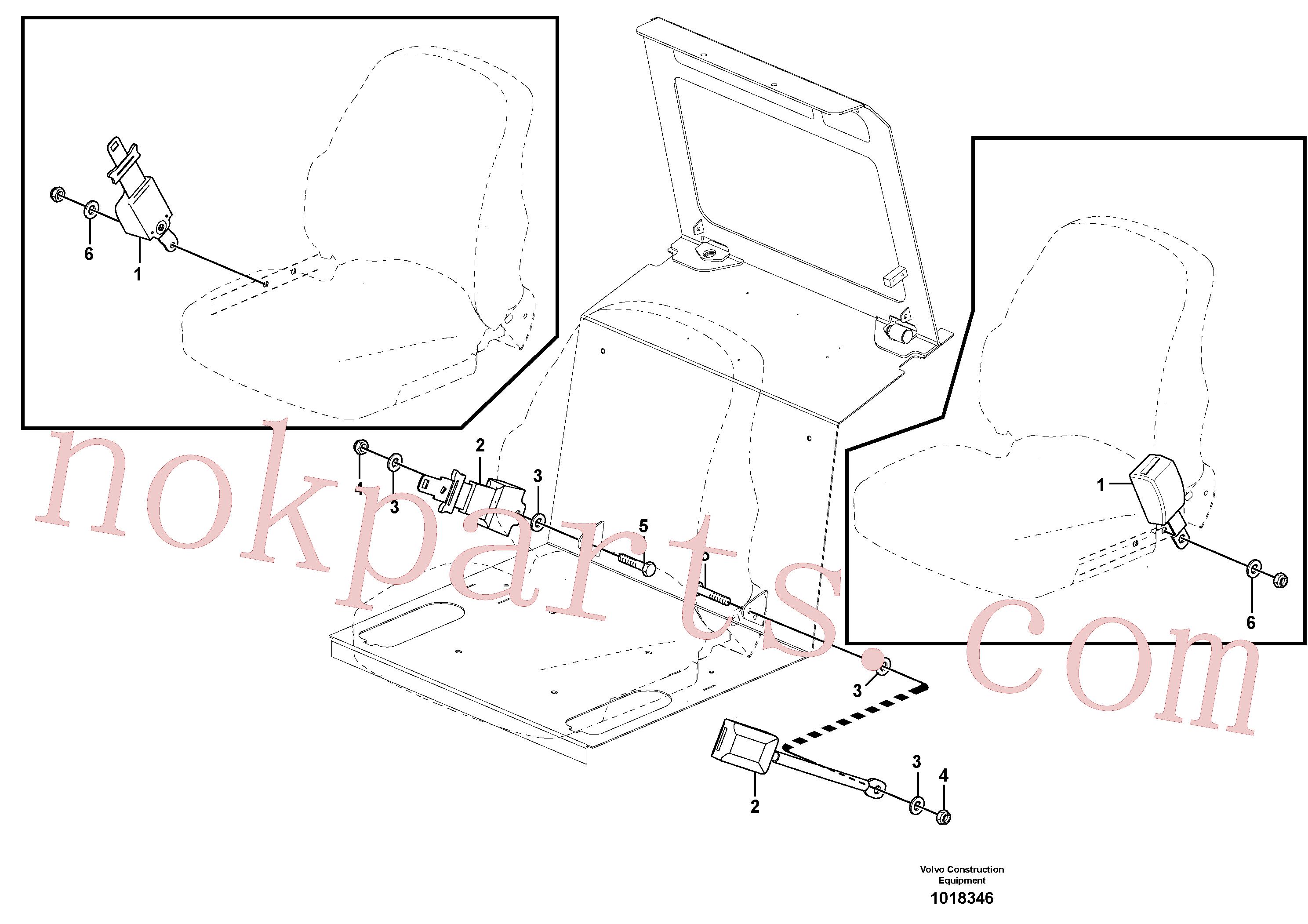 VOE14014888 for Volvo Seat belt operator's seat(1018346 assembly)