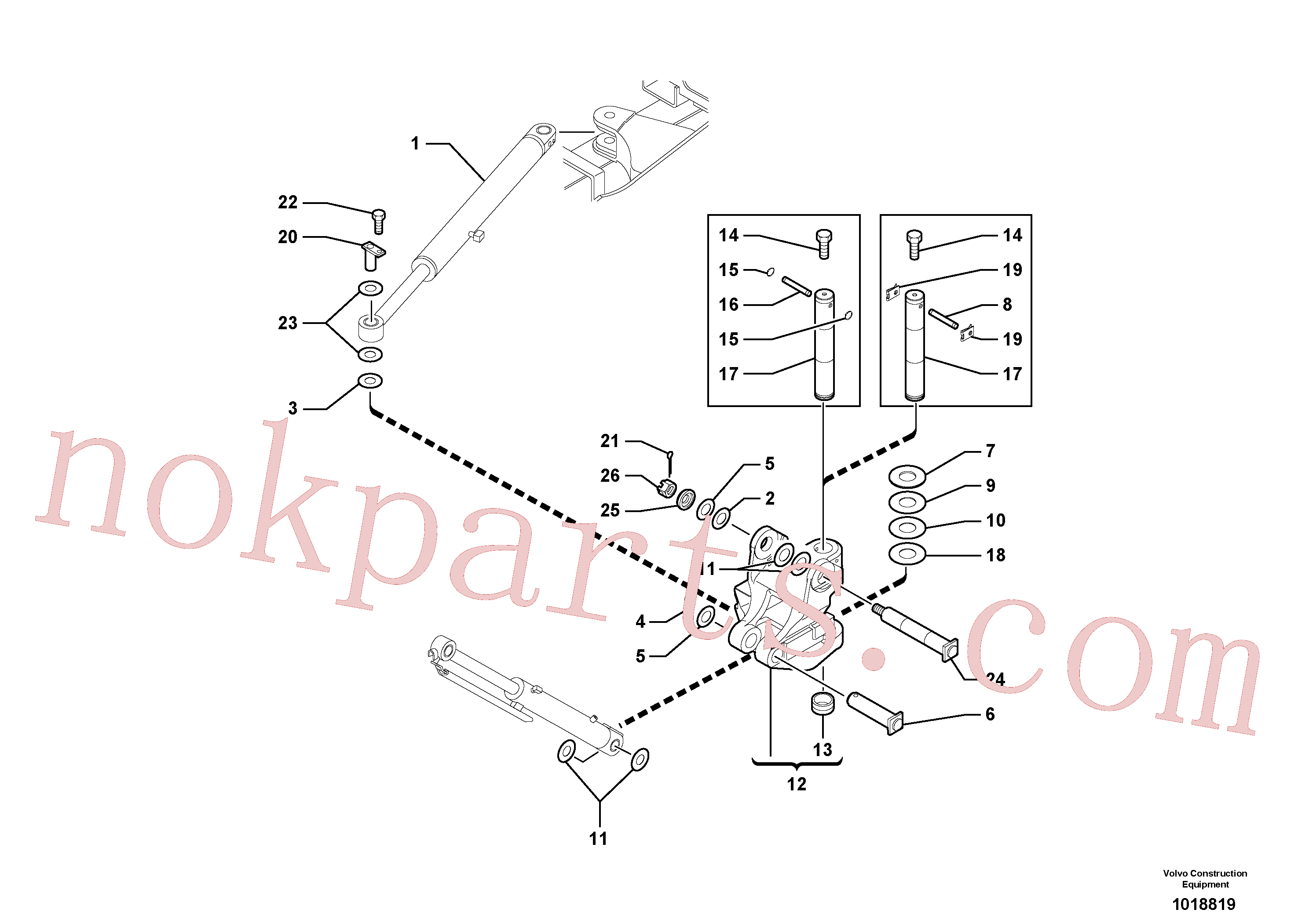 PJ5540111 for Volvo Pivot pin(1018819 assembly)