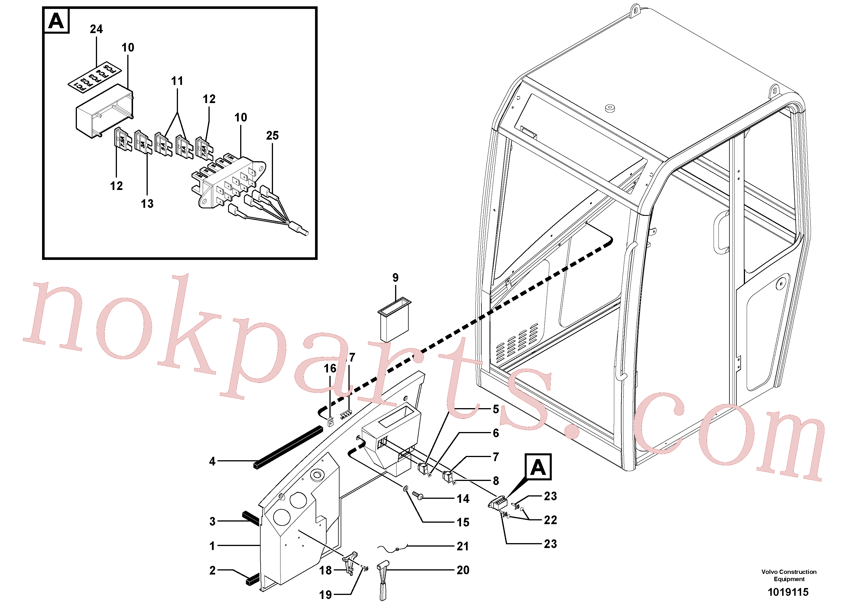 PJ5120013 for Volvo Cab : console(1019115 assembly)