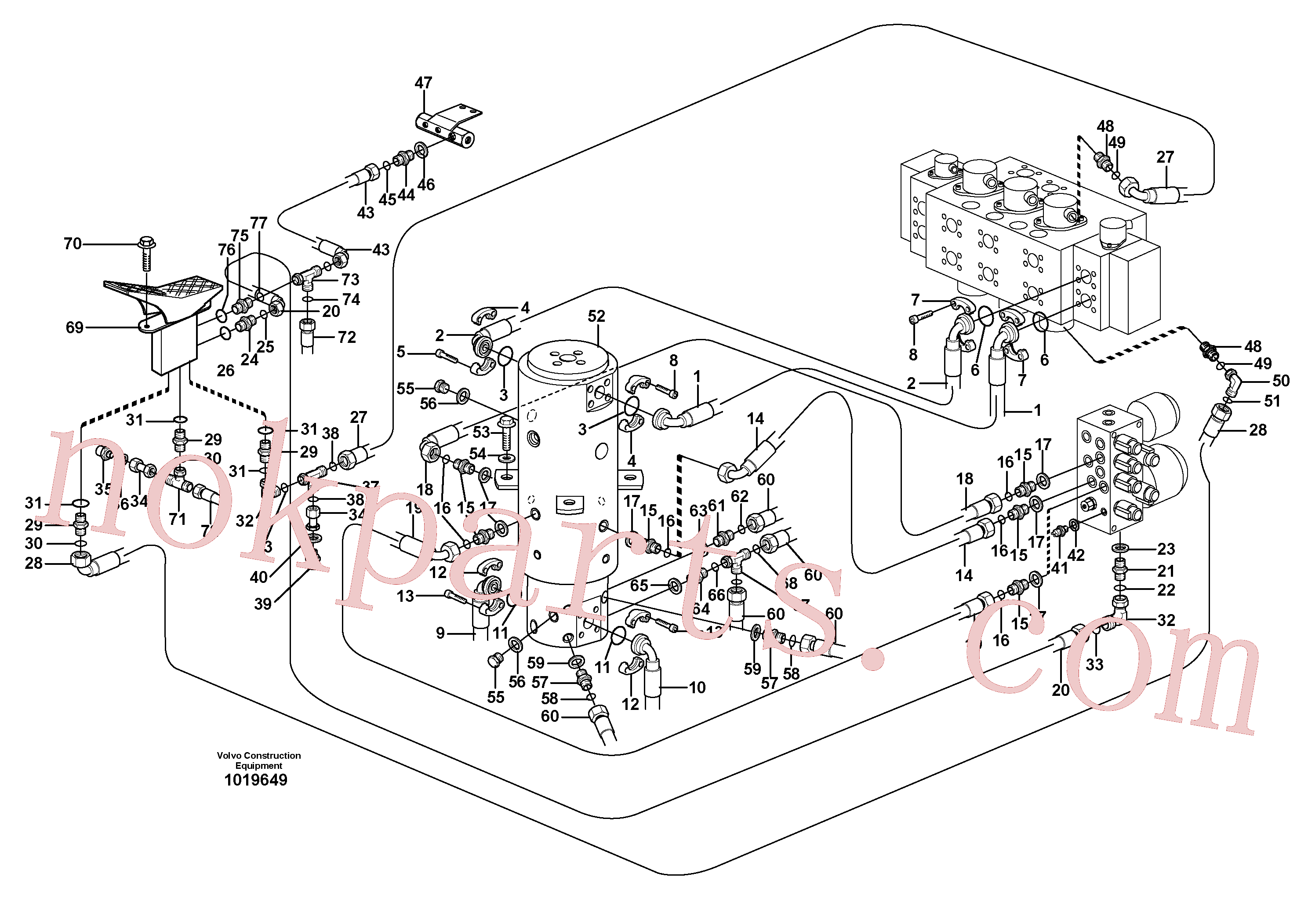 VOE14375479 for Volvo Hydraulic system, transport in uppercarrige(1019649 assembly)
