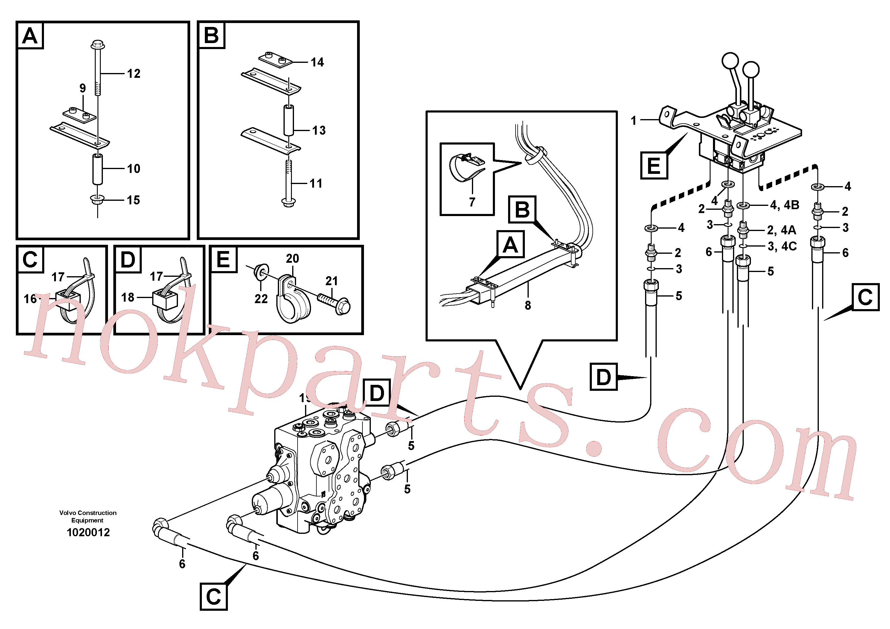 VOE11411803 for Volvo Control lines(1020012 assembly)