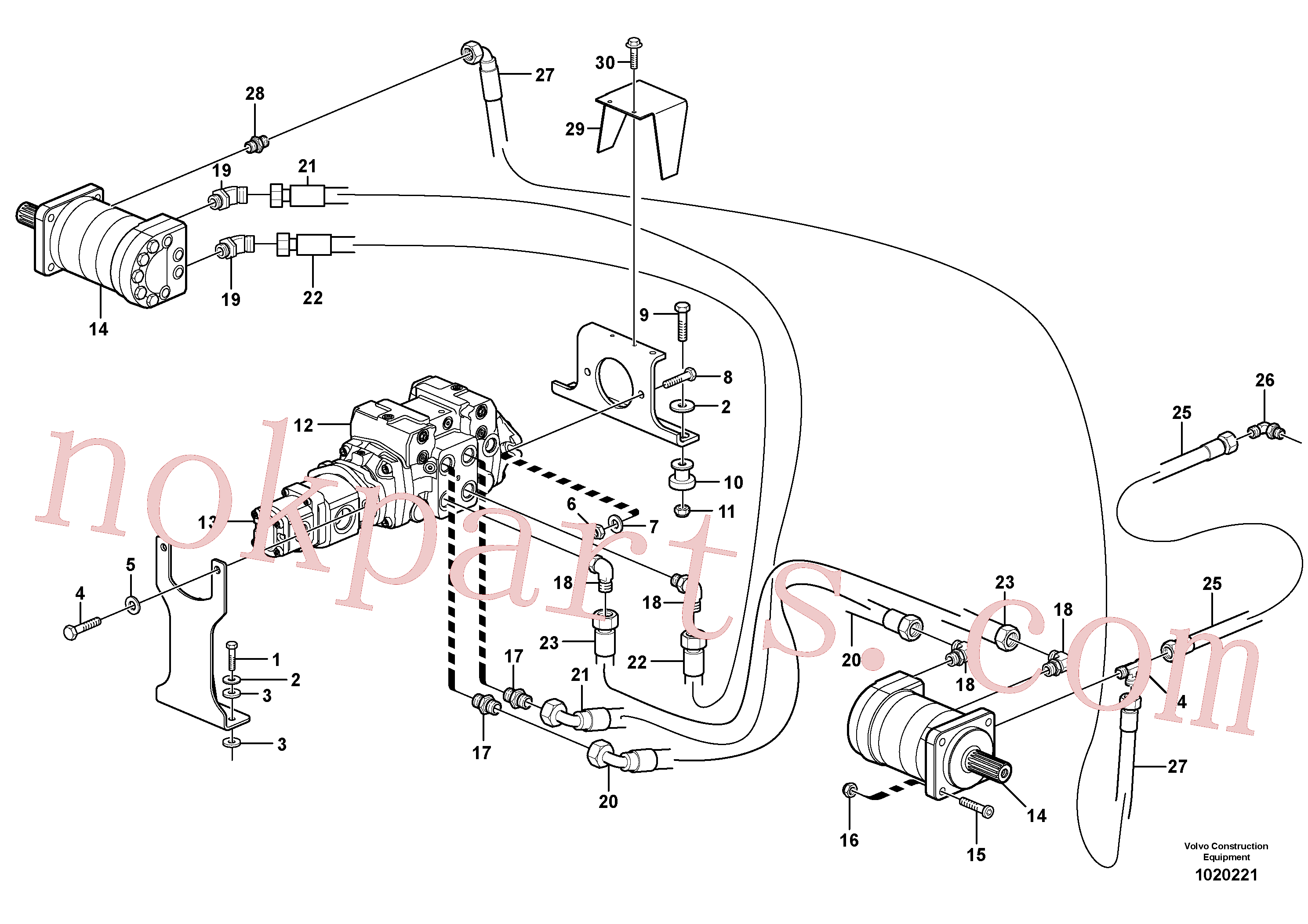 VOE11841526 for Volvo Hydraulic system Transport(1020221 assembly)