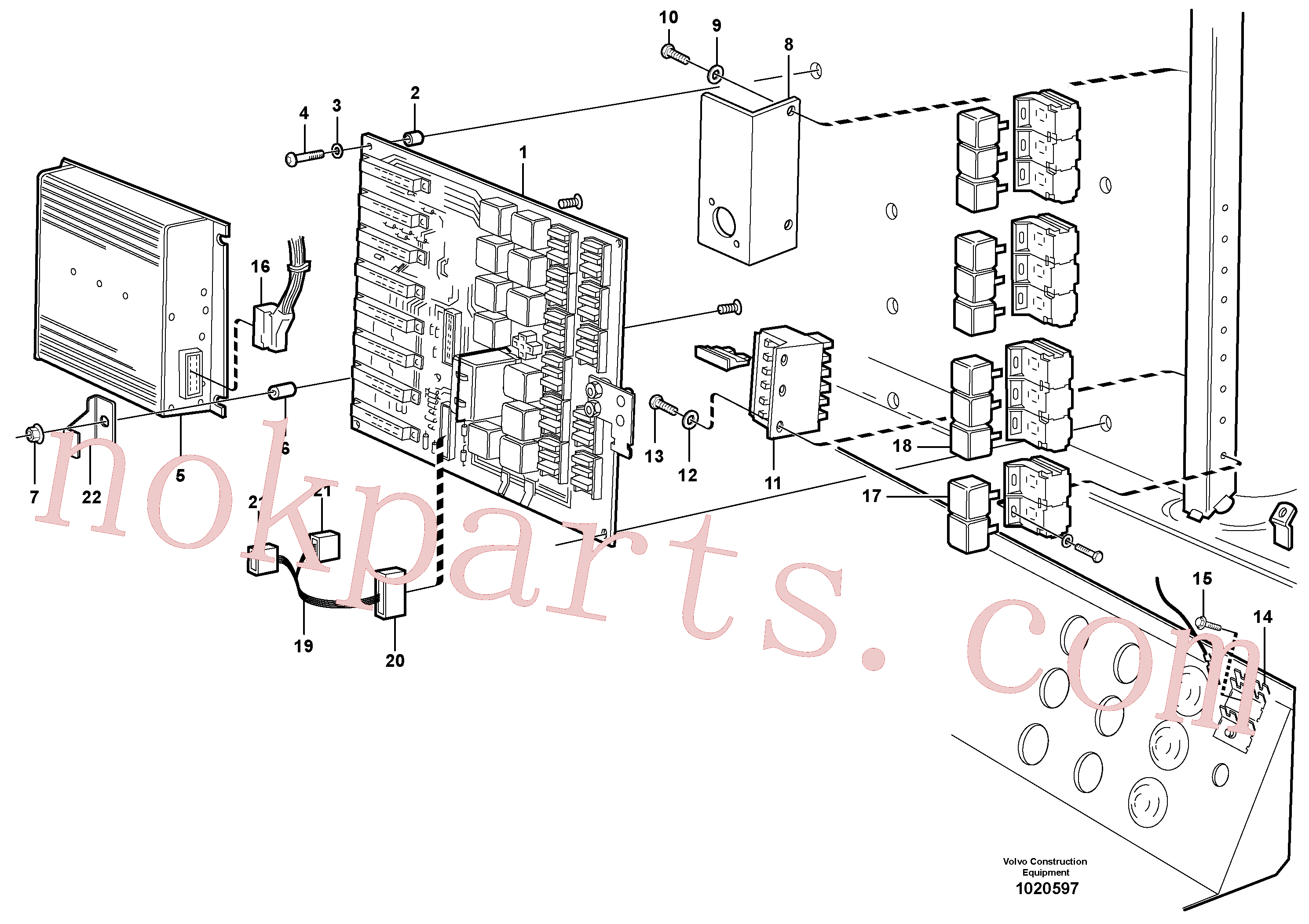 VOE13969514 for Volvo Electrical distribution box(1020597 assembly)