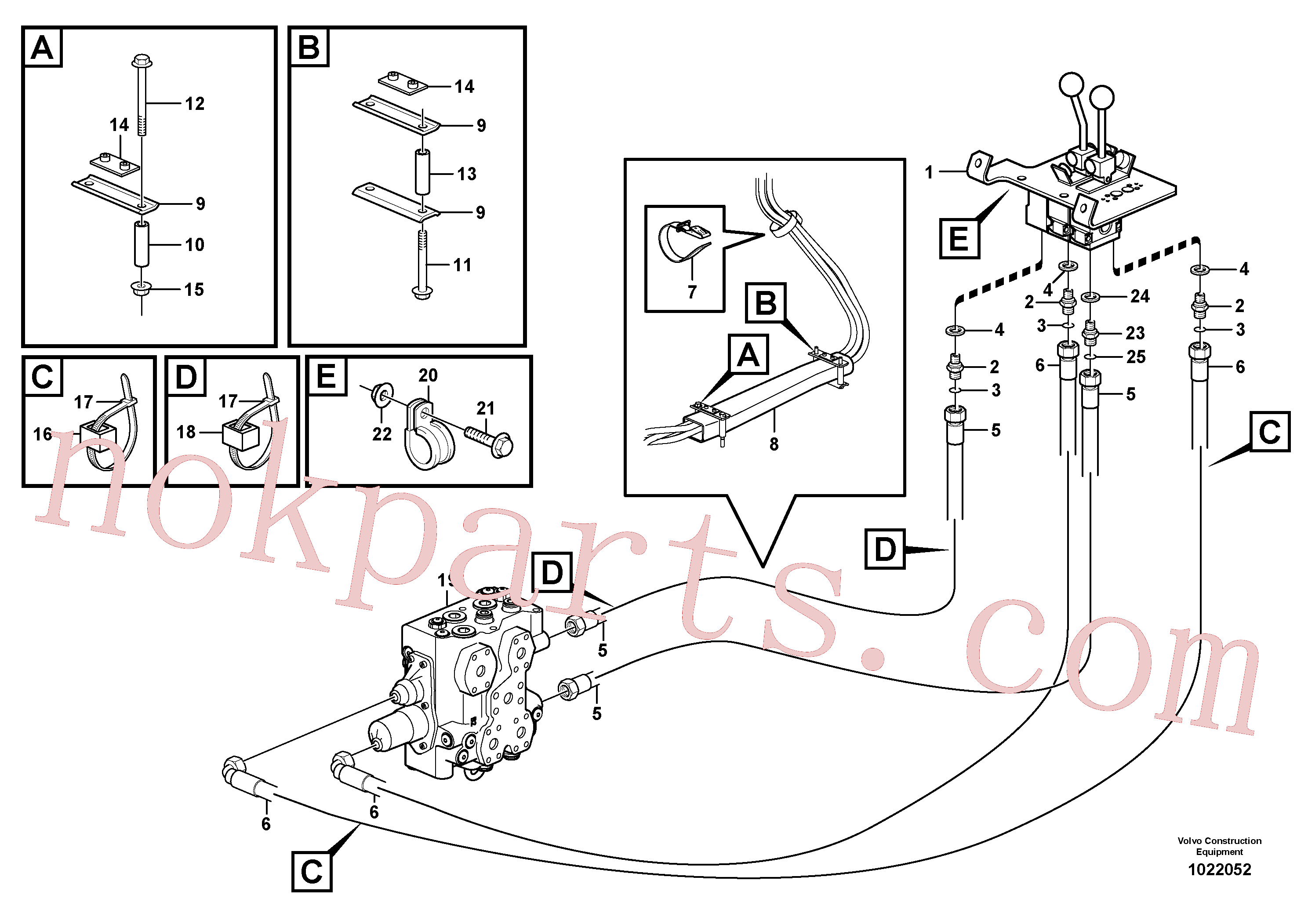 VOE11411803 for Volvo Control lines(1022052 assembly)