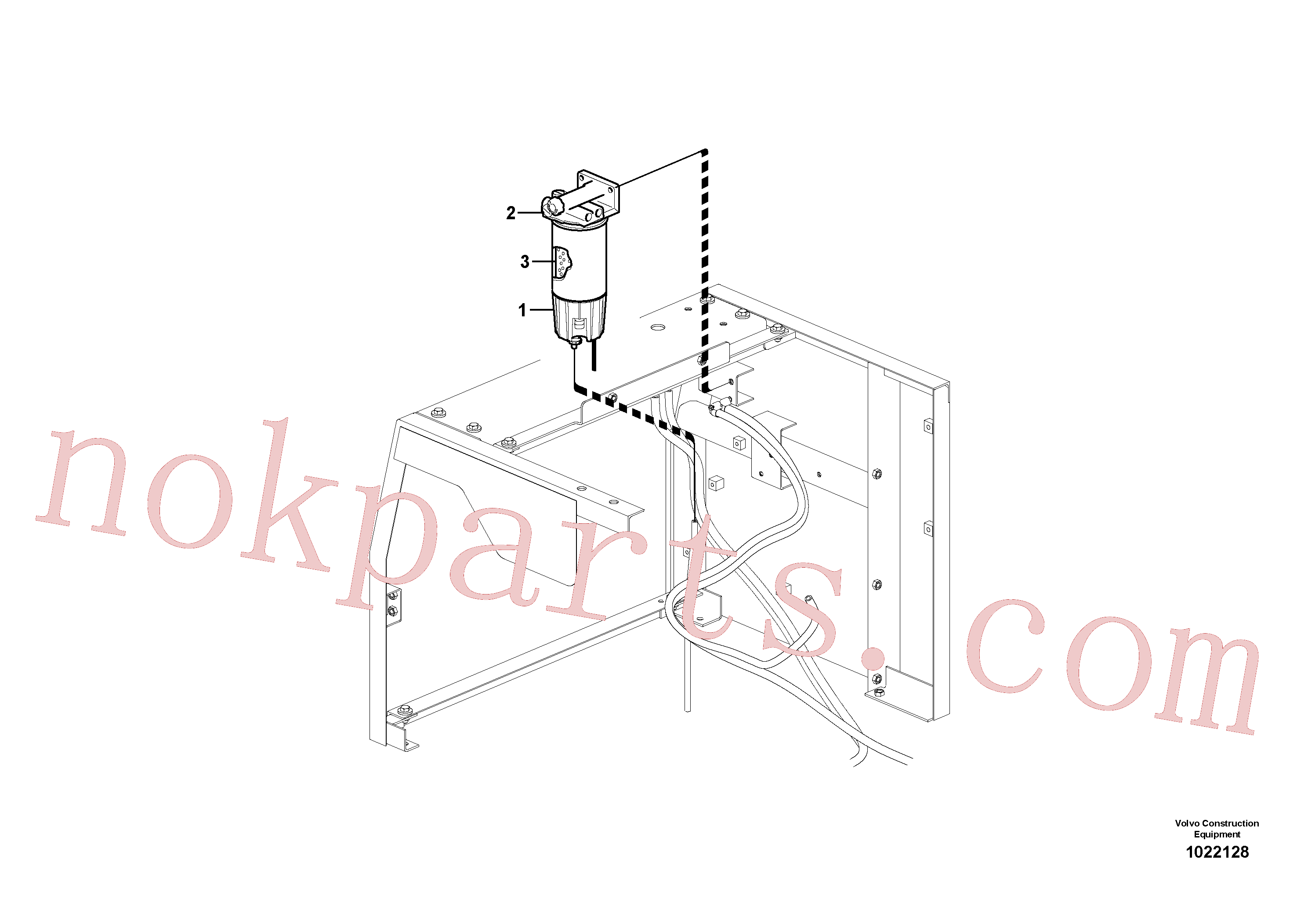 VOE11110683 for Volvo Water separator(1022128 assembly)
