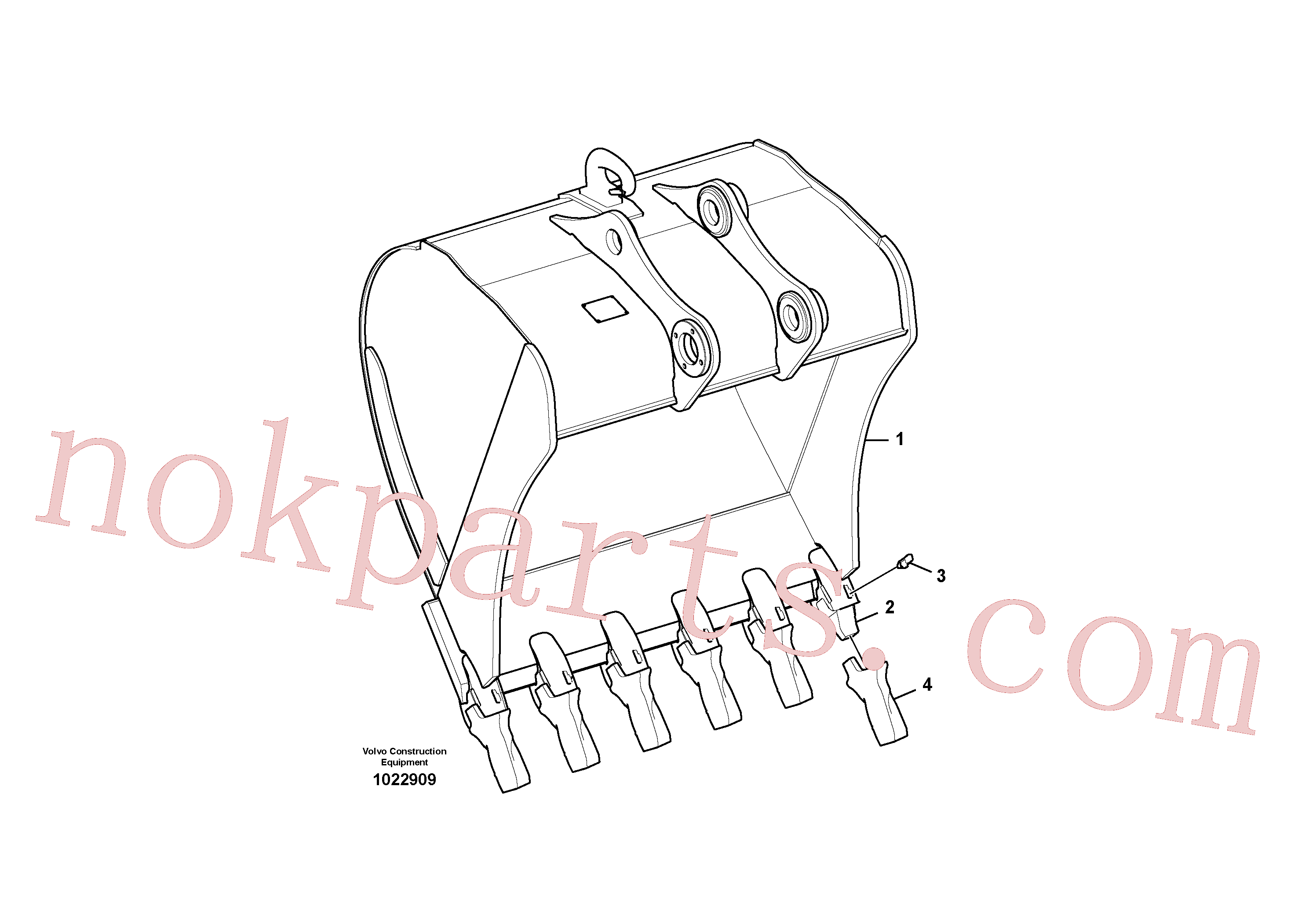 VOE14523552 for Volvo Bucket(1022909 assembly)