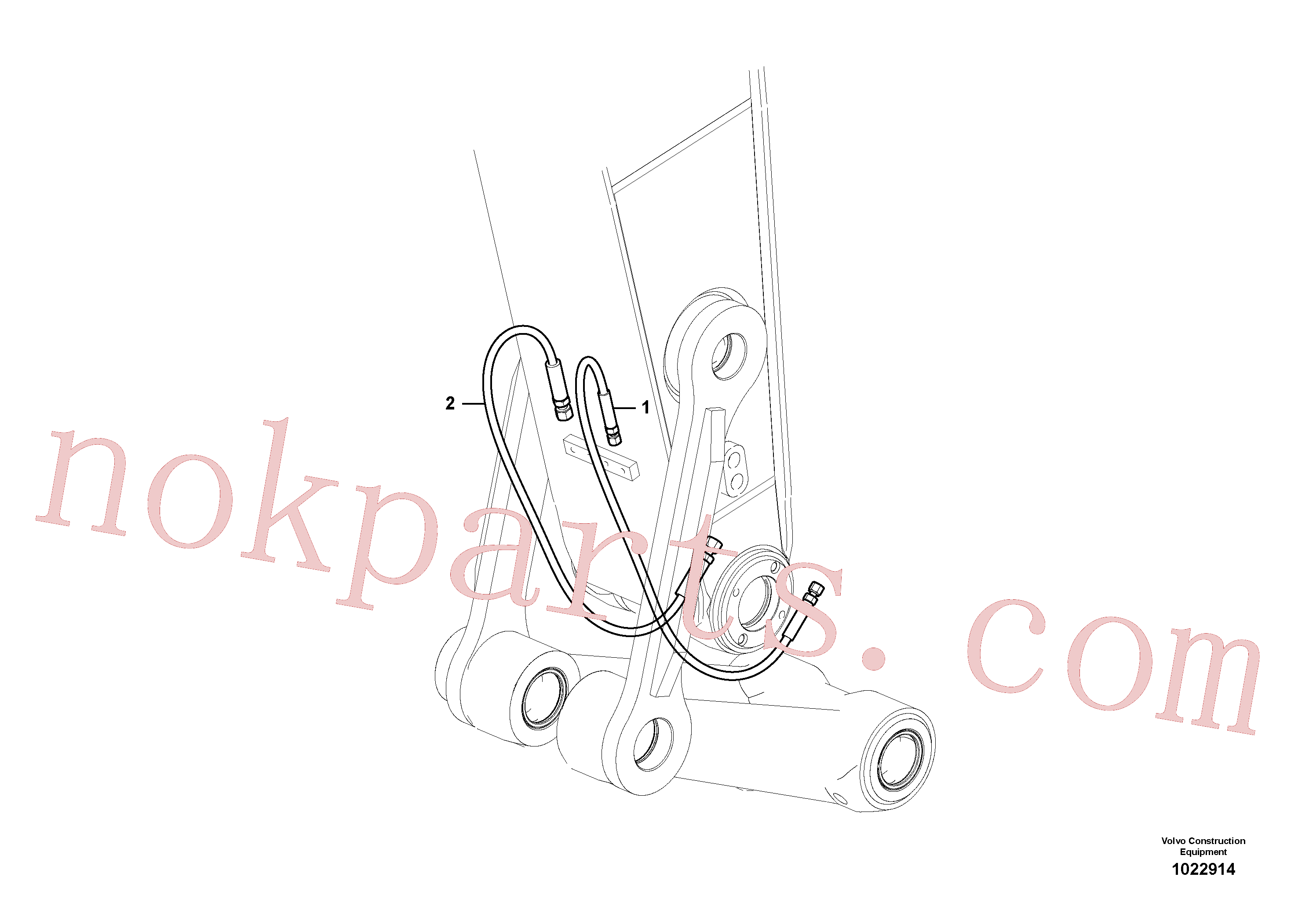 SA9459-05260 for Volvo Working hydraulic, quick fit on dipper arm(1022914 assembly)