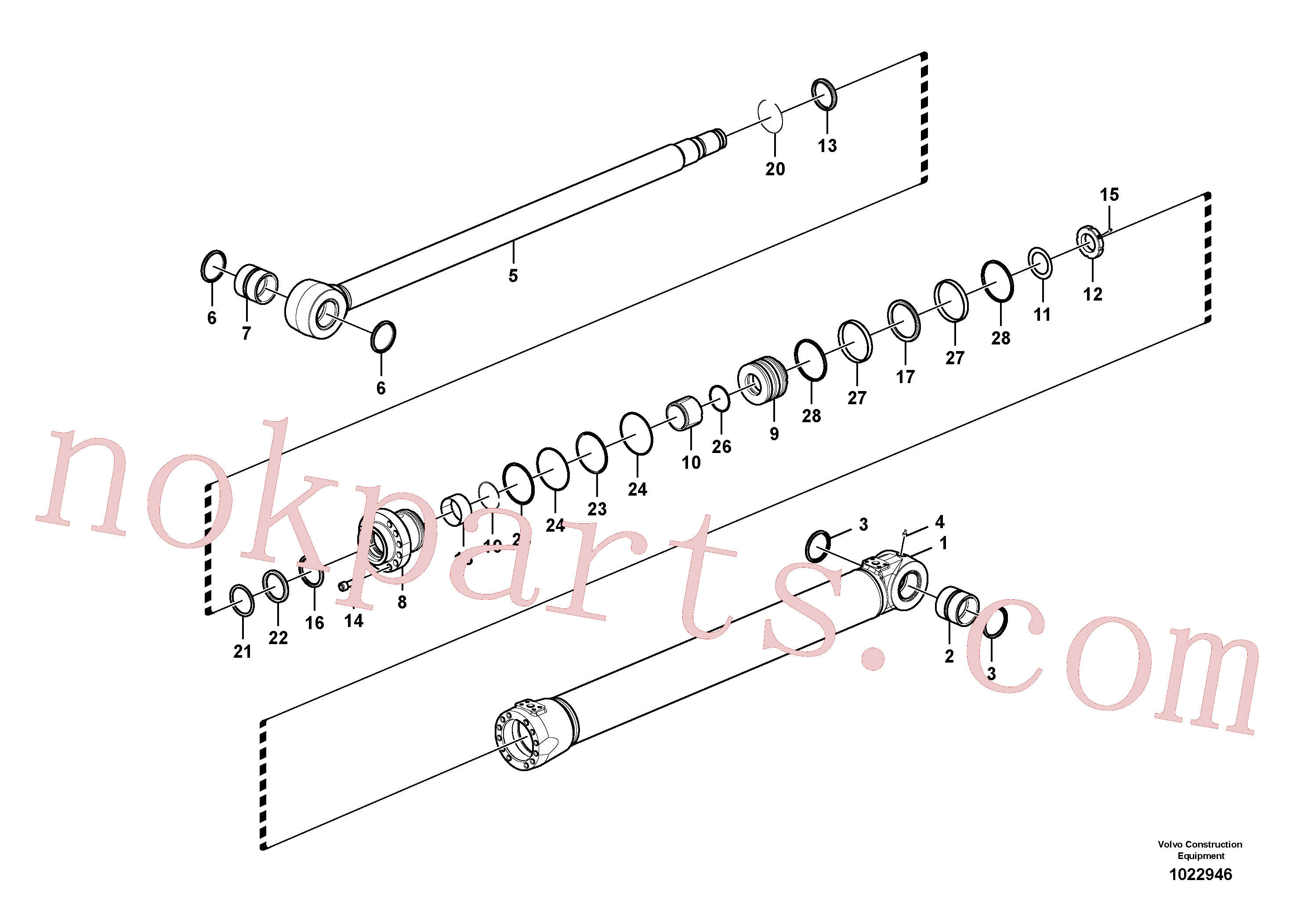 SA9565-11250 for Volvo Boom cylinder(1022946 assembly)