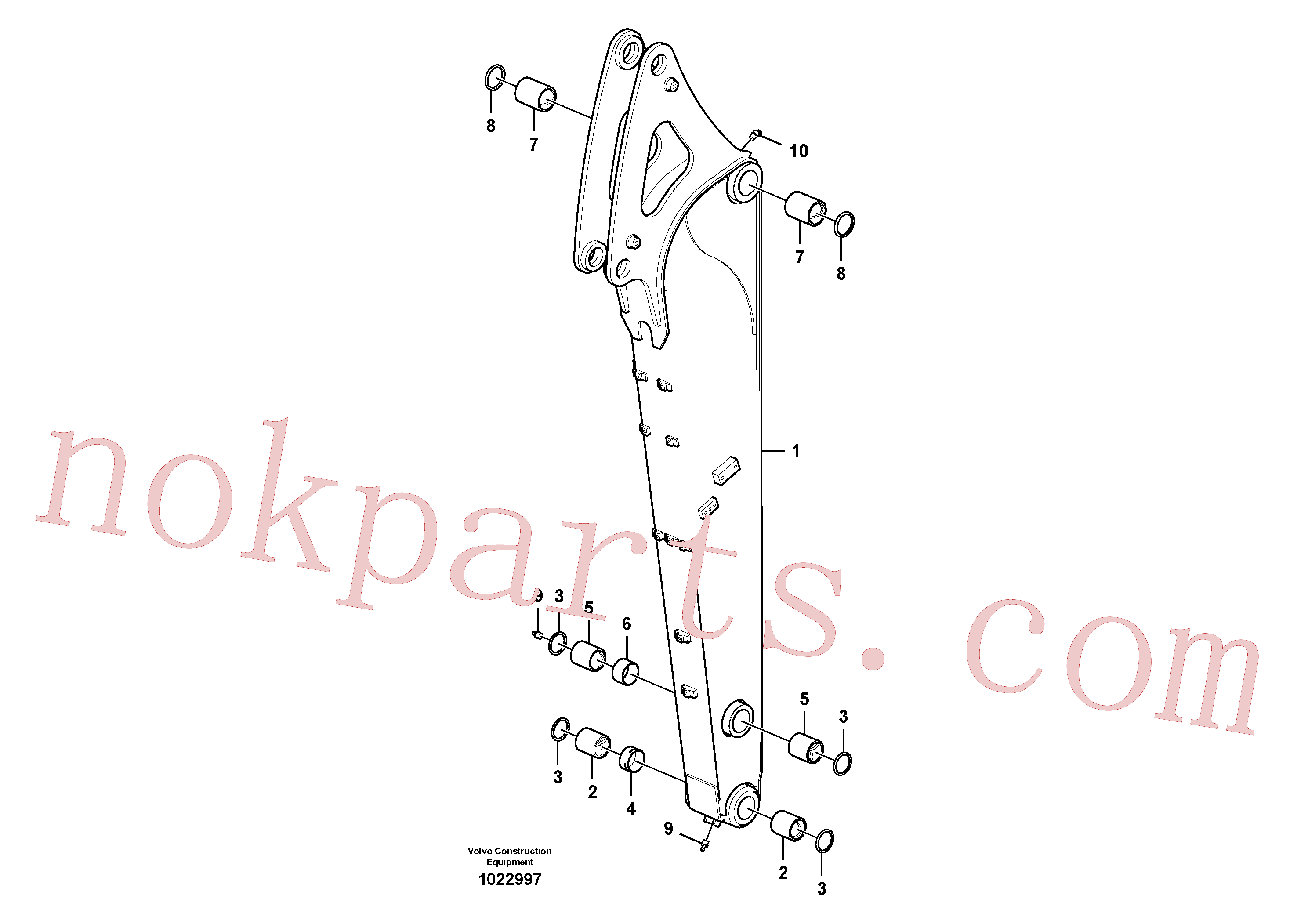 VOE14608971 for Volvo Dipper arm.(1022997 assembly)