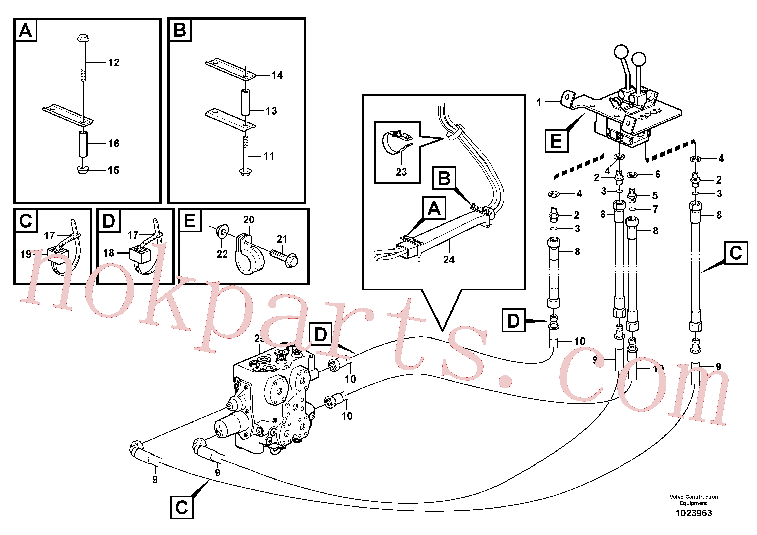 VOE11411803 for Volvo Control lines(1023963 assembly)