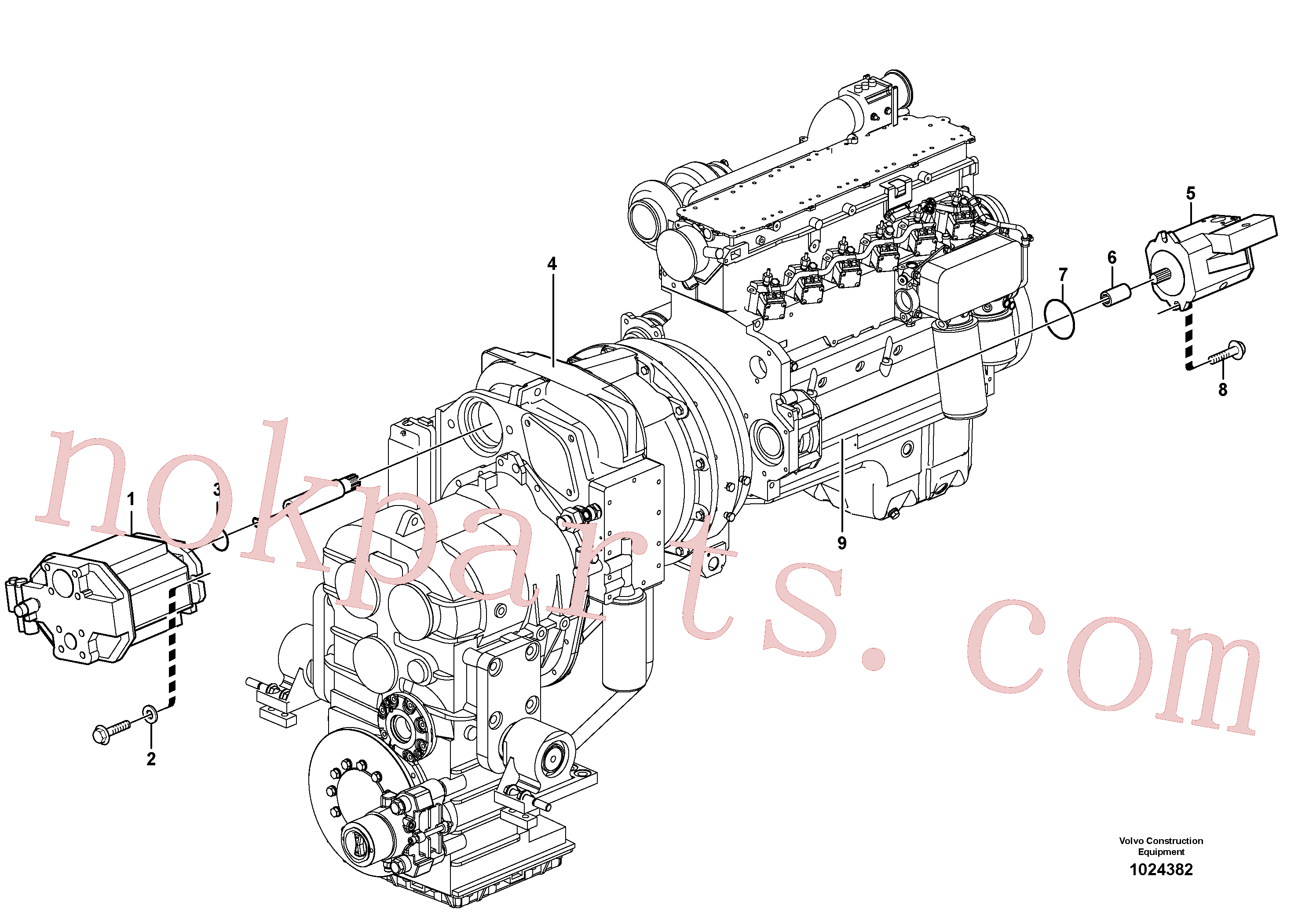 VOE20450819 for Volvo Hydraulic pump with fitting parts(1024382 assembly)