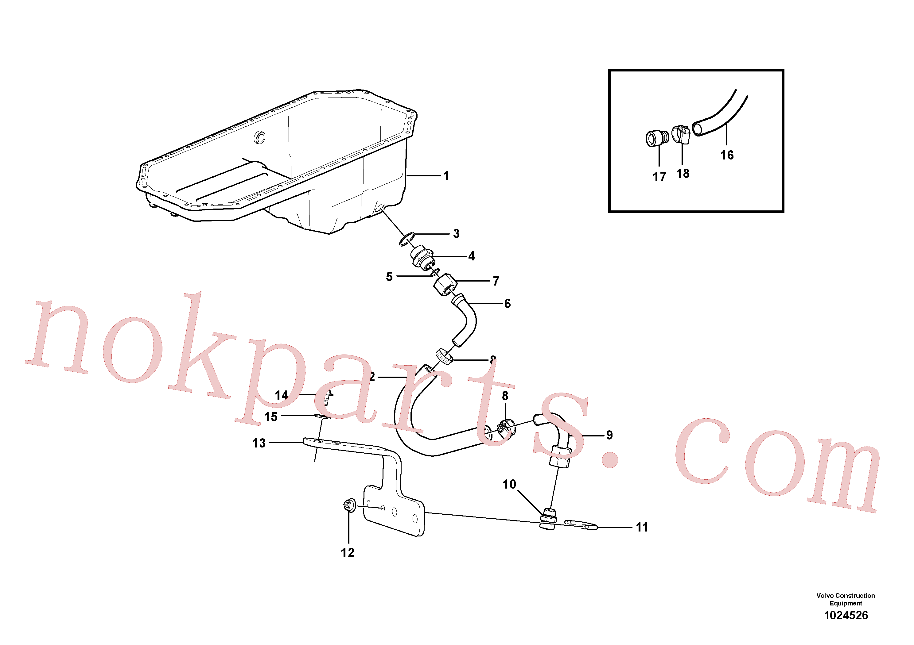 SA9426-20090 for Volvo Draining of oil sump(1024526 assembly)