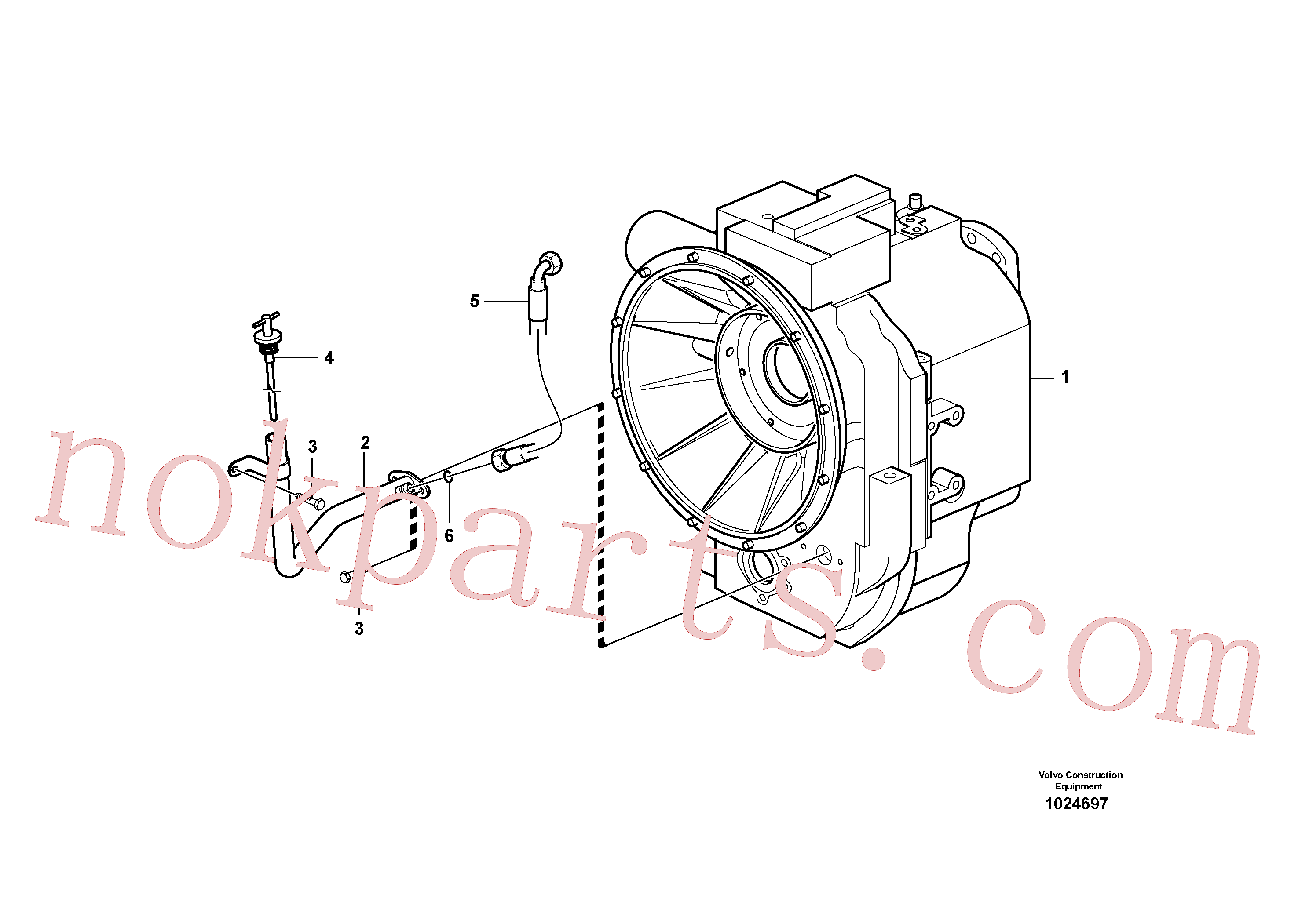 SA9016-10804 for Volvo Oil filler and dipstick(1024697 assembly)