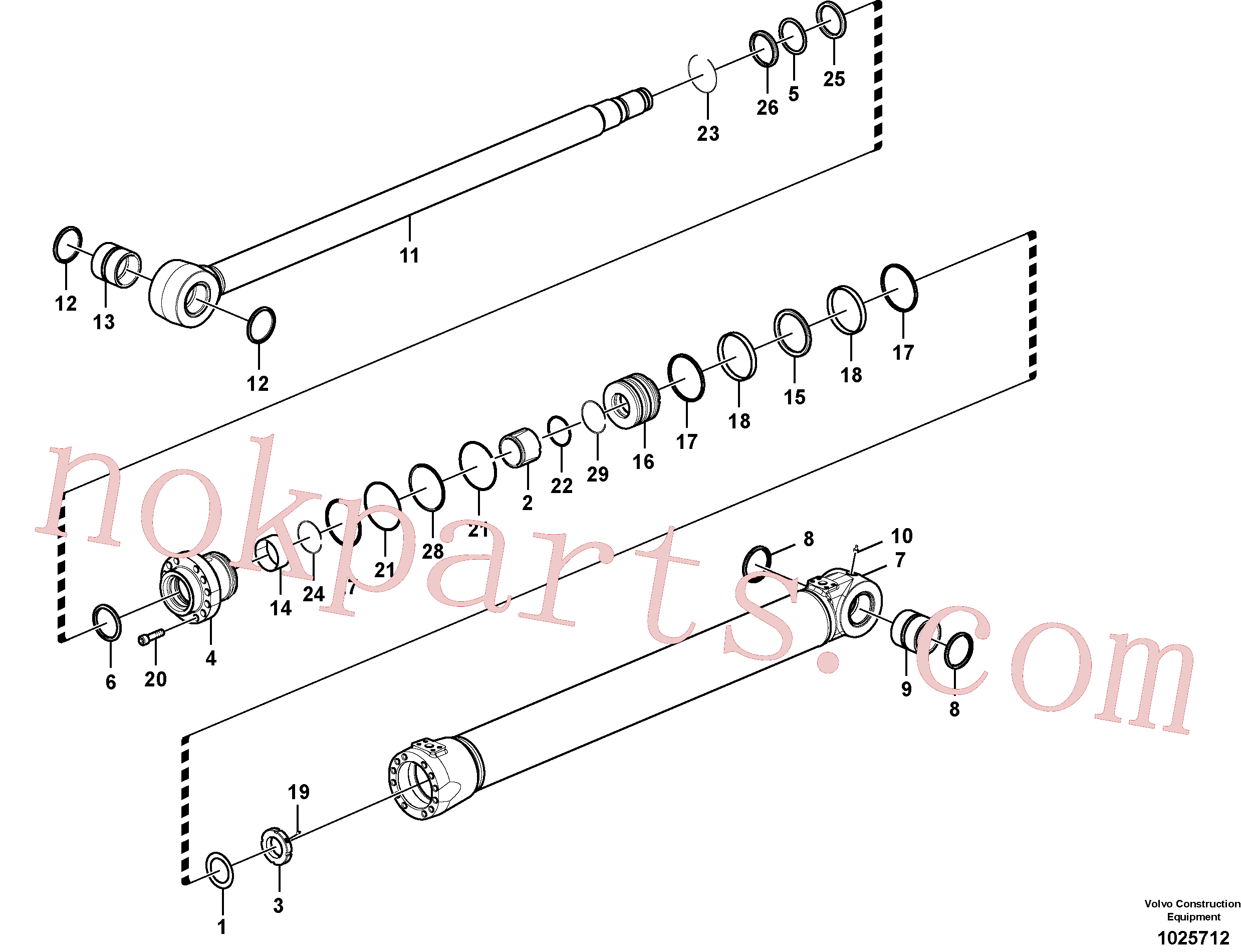 SA9556-09500 for Volvo Boom cylinder(1025712 assembly)