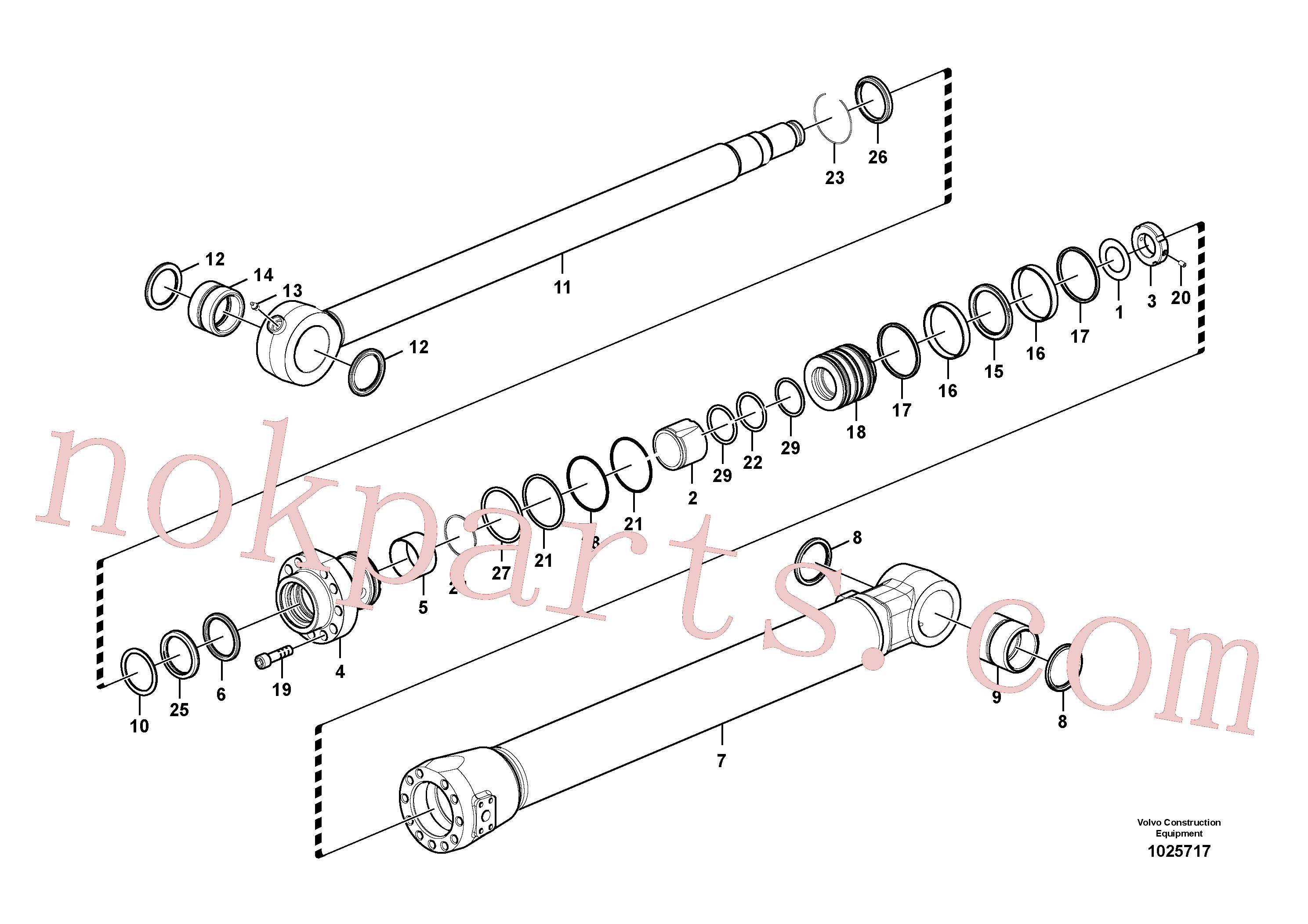 VOE14517942 for Volvo Bucket cylinder(1025717 assembly)