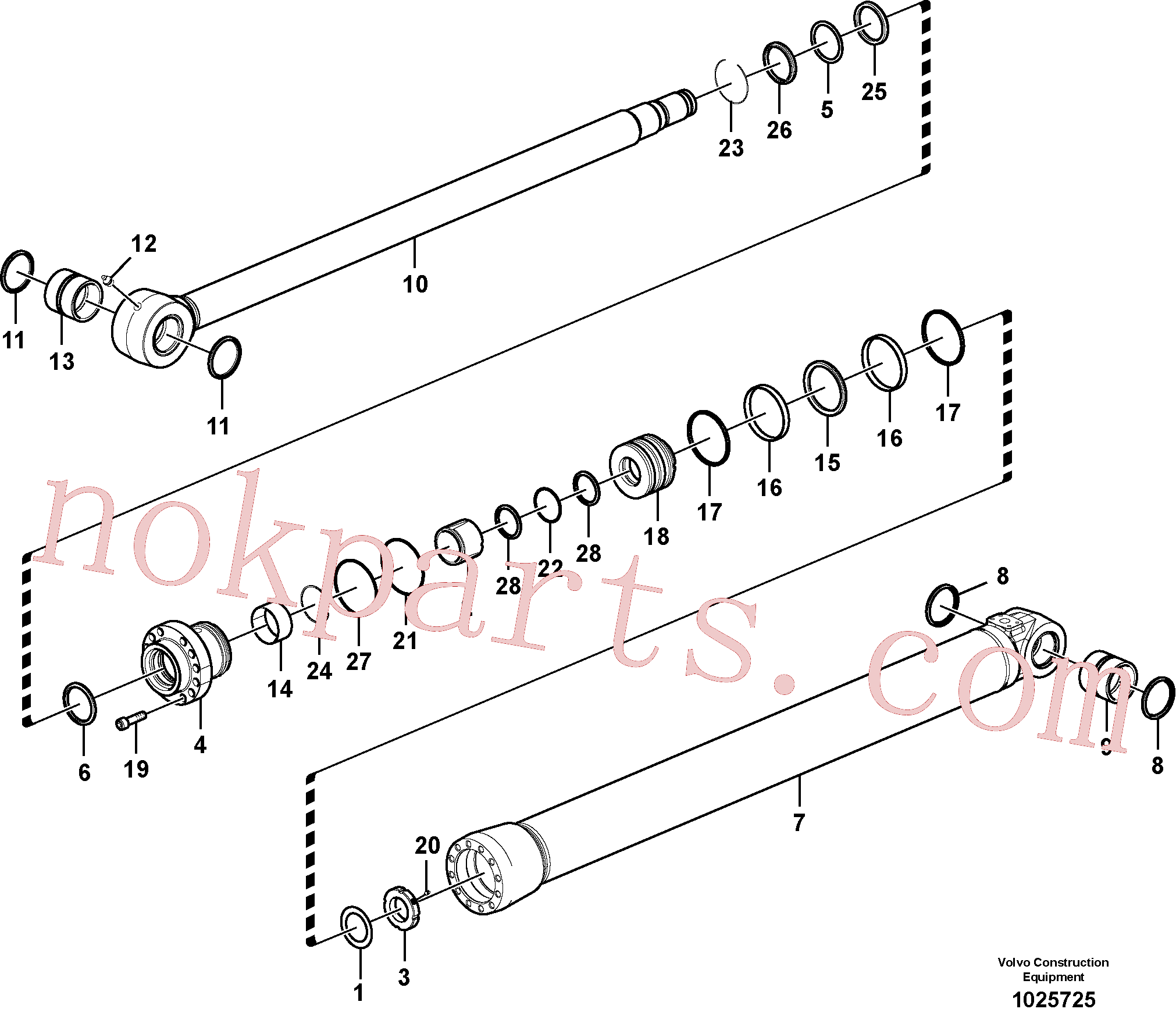 VOE14535763 for Volvo Bucket cylinder(1025725 assembly)