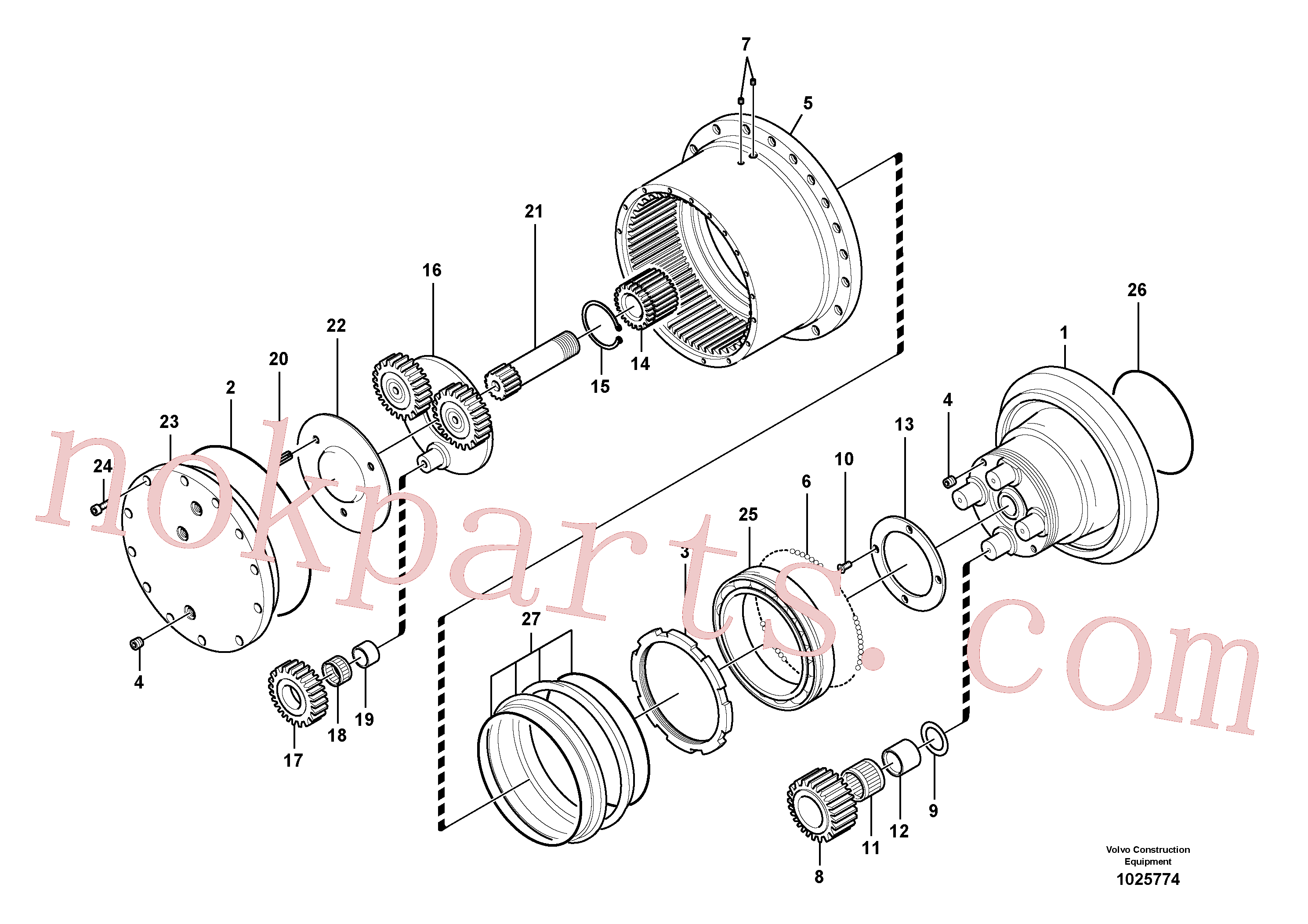 SA9016-10804 for Volvo Travel gearbox(1025774 assembly)