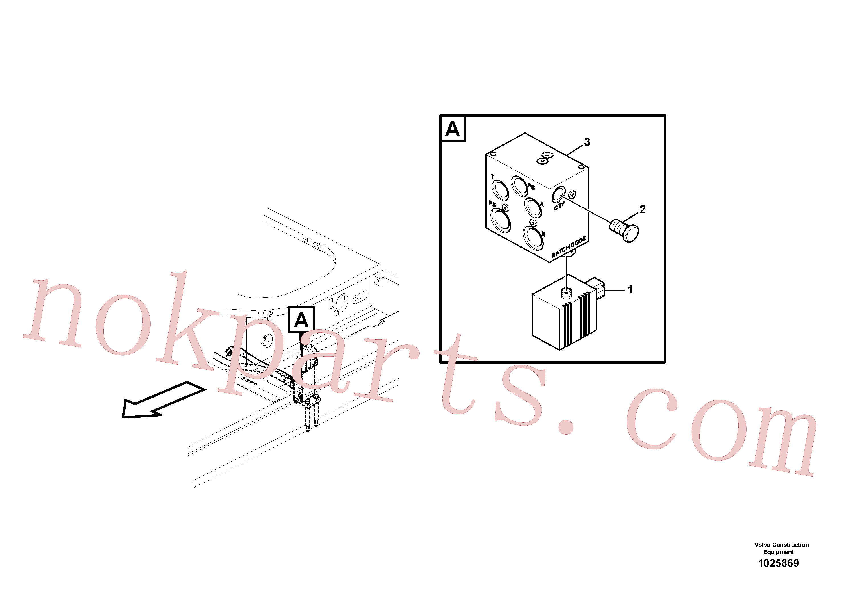 VOE14594942 for Volvo Valve, quickfit(1025869 assembly)