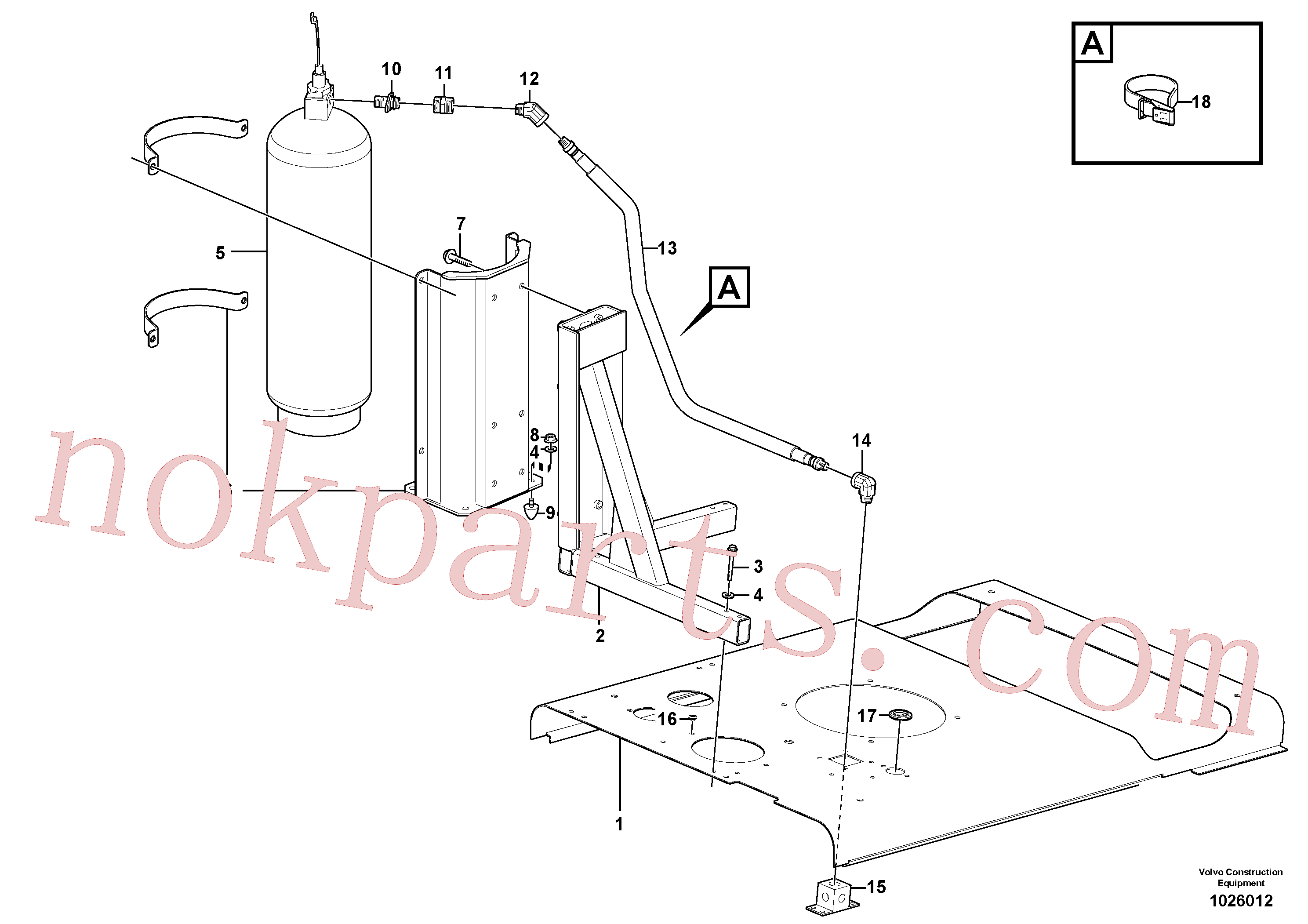 VOE4881758 for Volvo Fire suppression system(1026012 assembly)