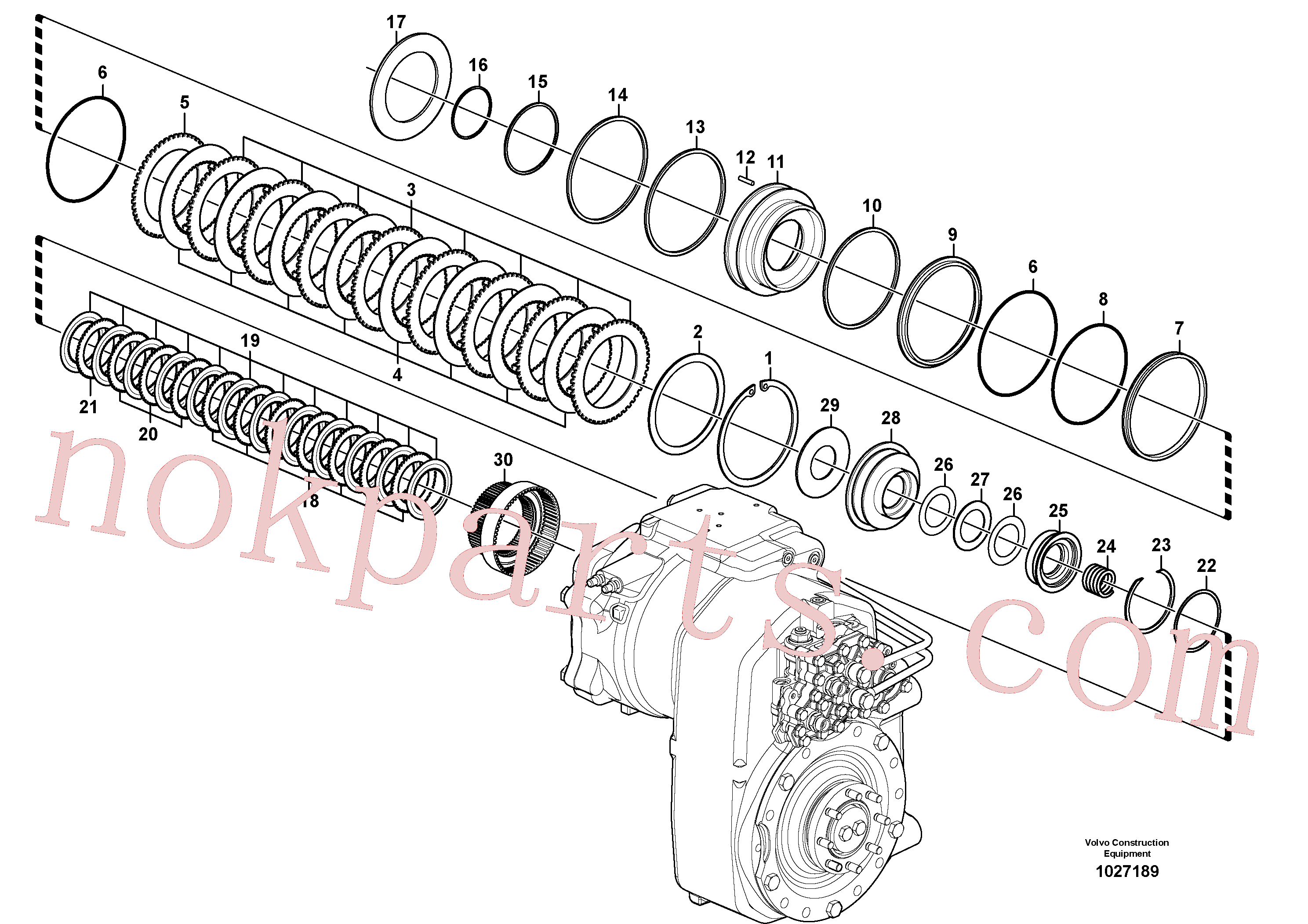 VOE14558045 for Volvo Transfer case, hydraulic coupling(1027189 assembly)