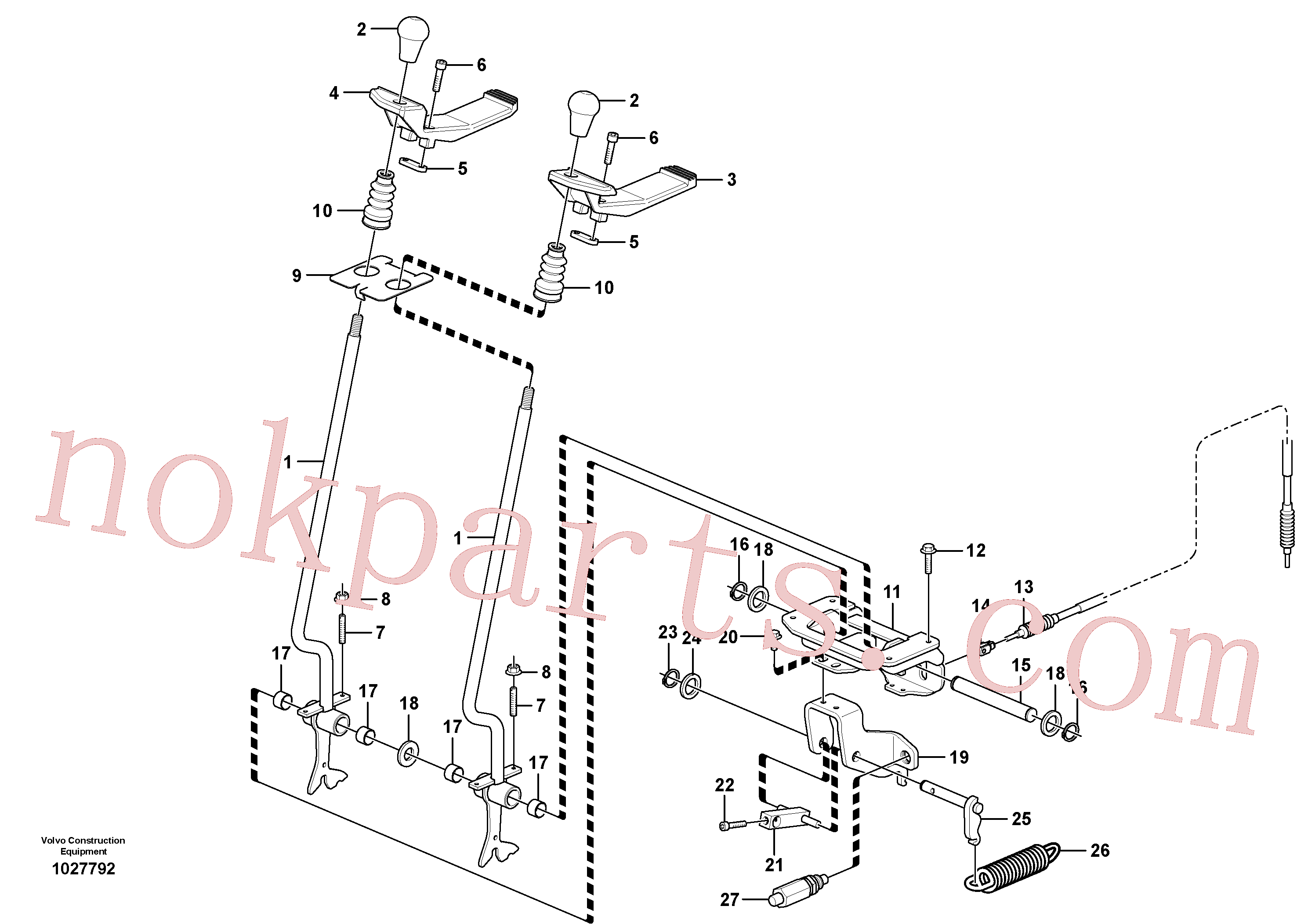 VOE11803169 for Volvo Control levers : travelling(1027792 assembly)