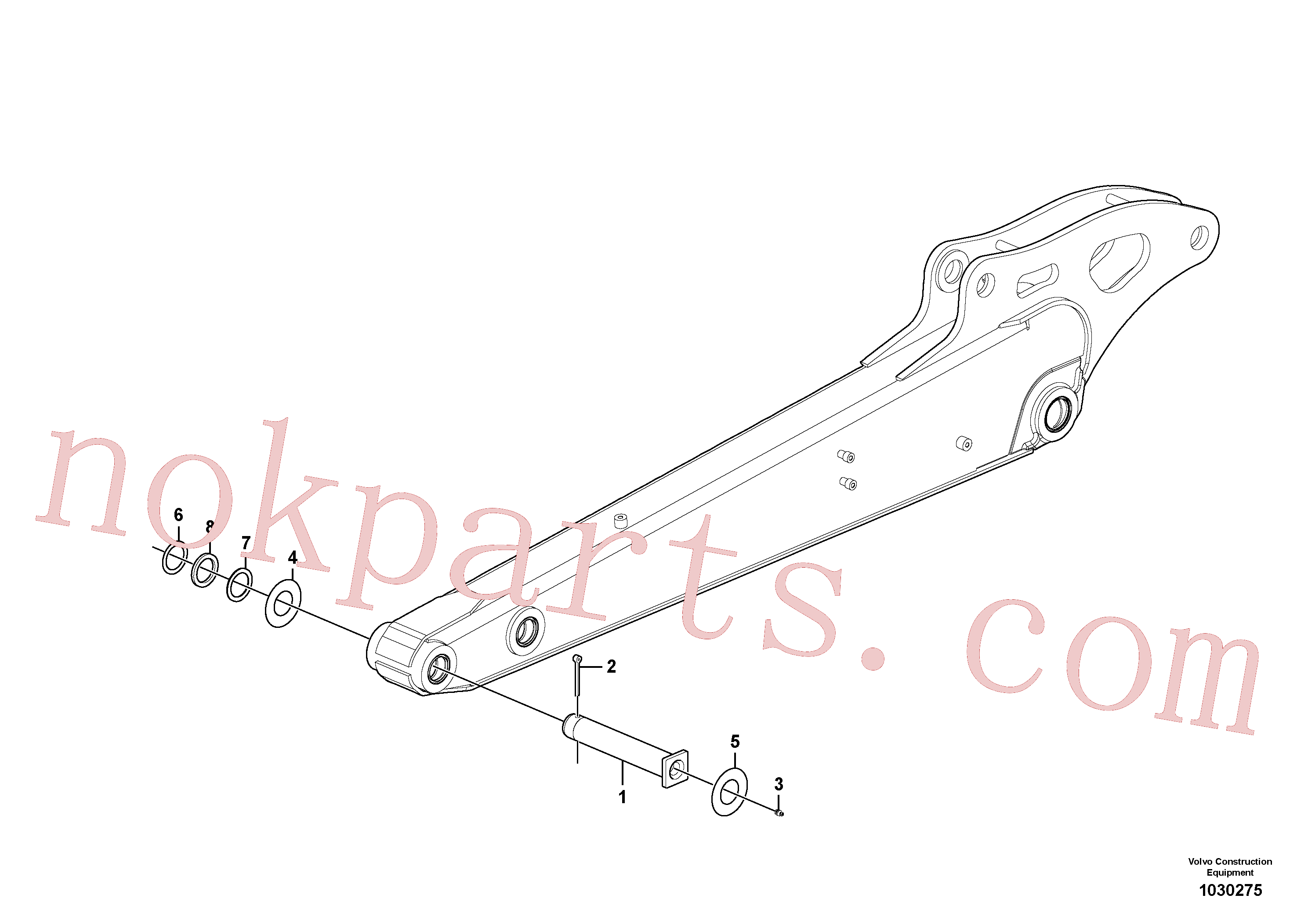 PJ5540111 for Volvo Dipper arm(1030275 assembly)