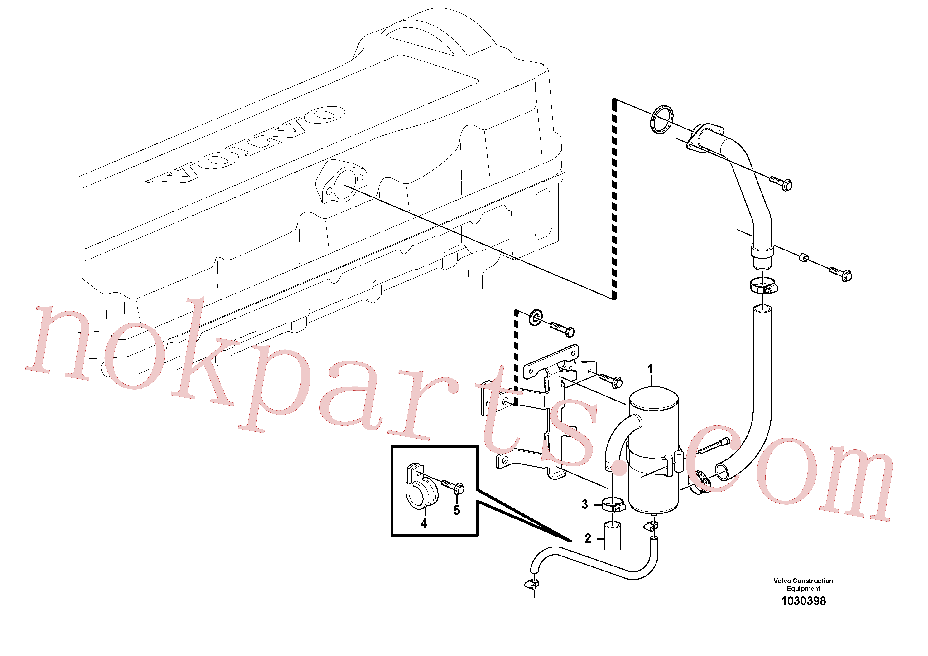 VOE981904 for Volvo Crankcase ventilation(1030398 assembly)