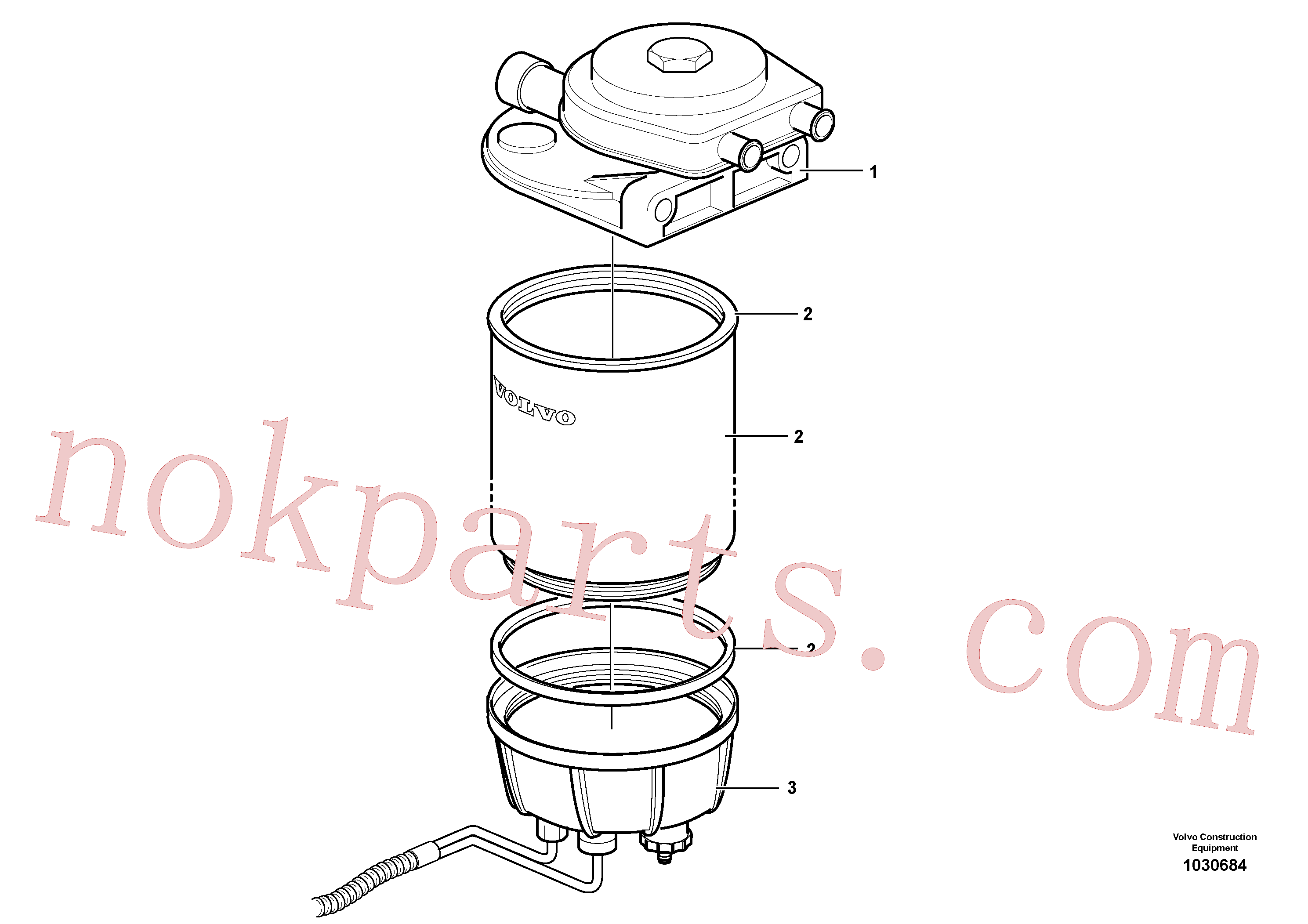VOE11110683 for Volvo Water separator.(1030684 assembly)