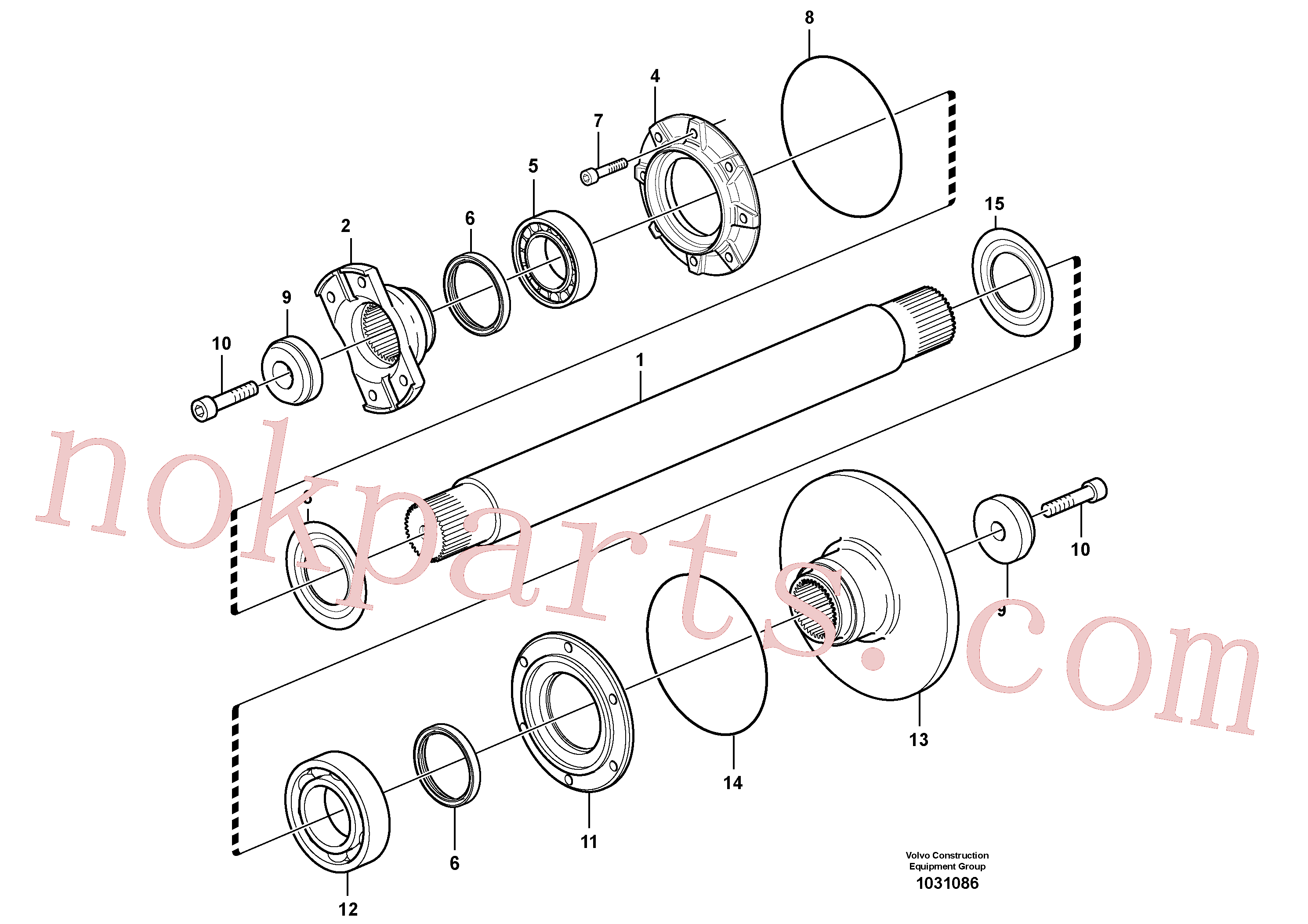 VOE965873 for Volvo Intermediate shaft(1031086 assembly)