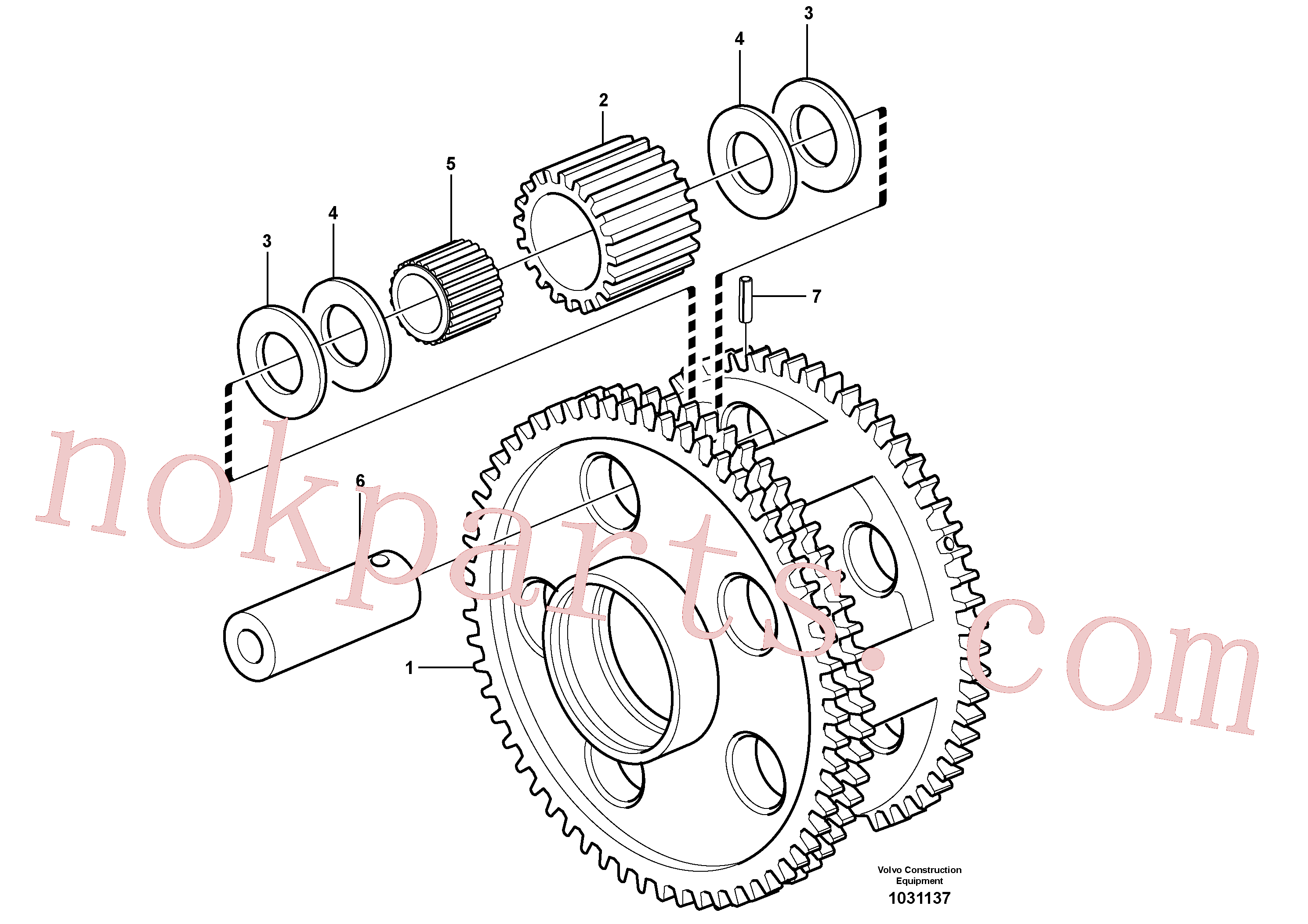 VOE11036753 for Volvo Planet kit, stage 3(1031137 assembly)