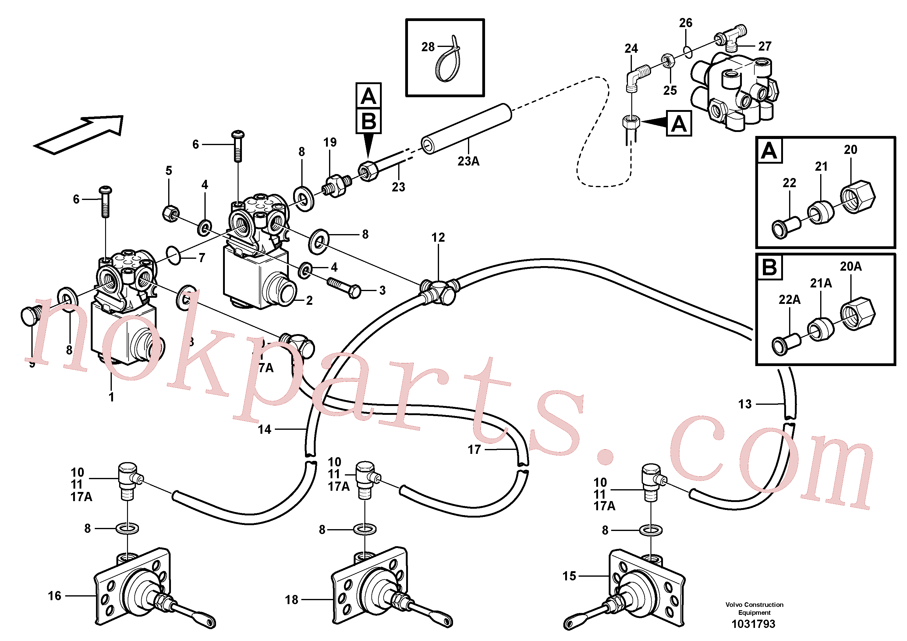 VOE945963 for Volvo Pneumatic system, 6x6 and diff lock, load unit(1031793 assembly)