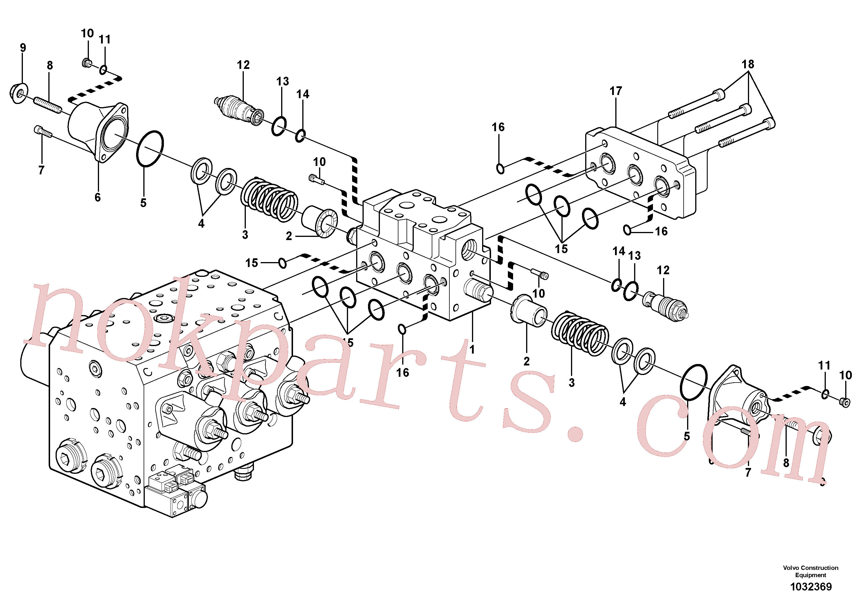 VOE11711036 for Volvo Hydraulic valve, X1(1032369 assembly)