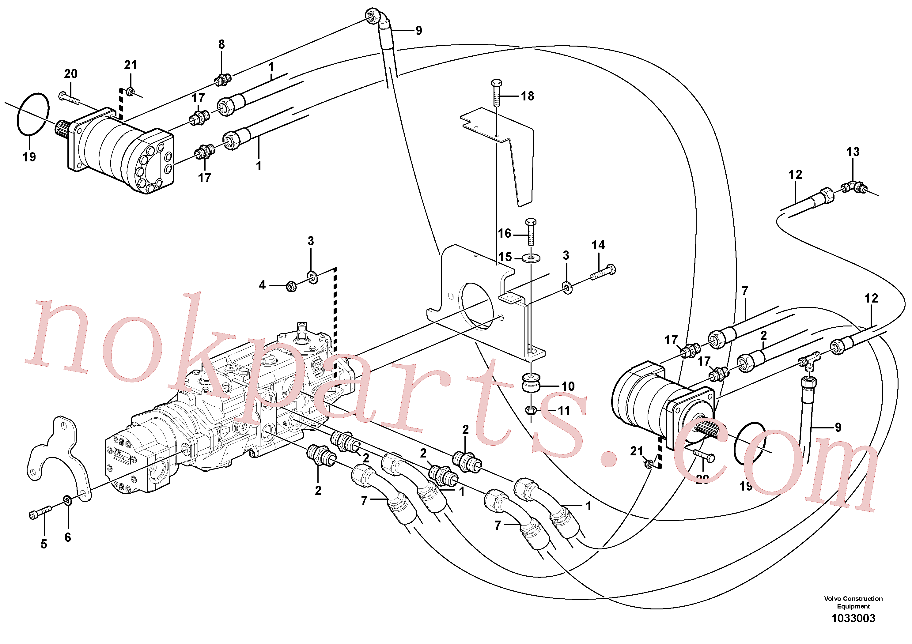 VOE11841526 for Volvo Hydraulic system Transport(1033003 assembly)