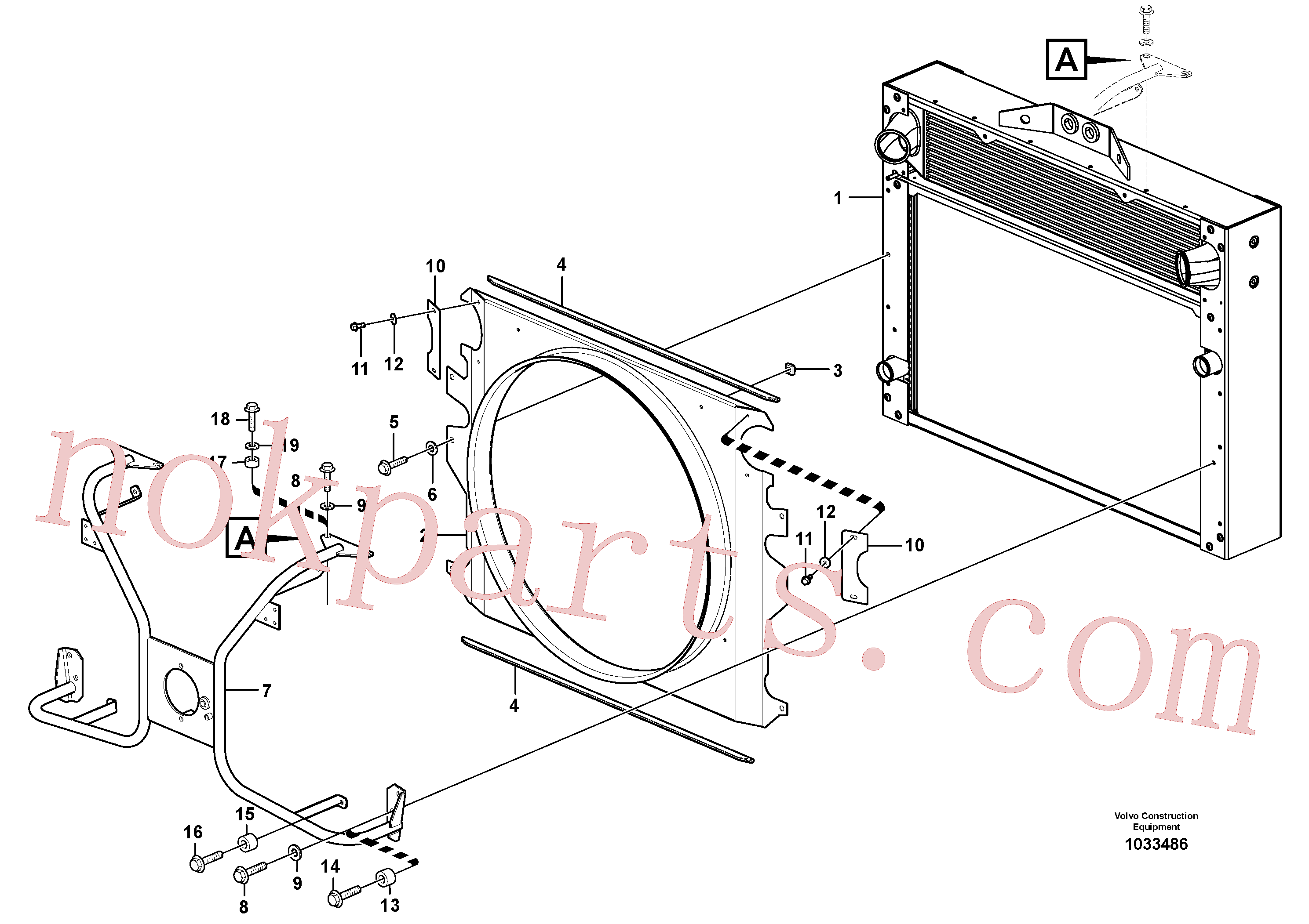 VOE976944 for Volvo Fan shroud with fitting parts(1033486 assembly)