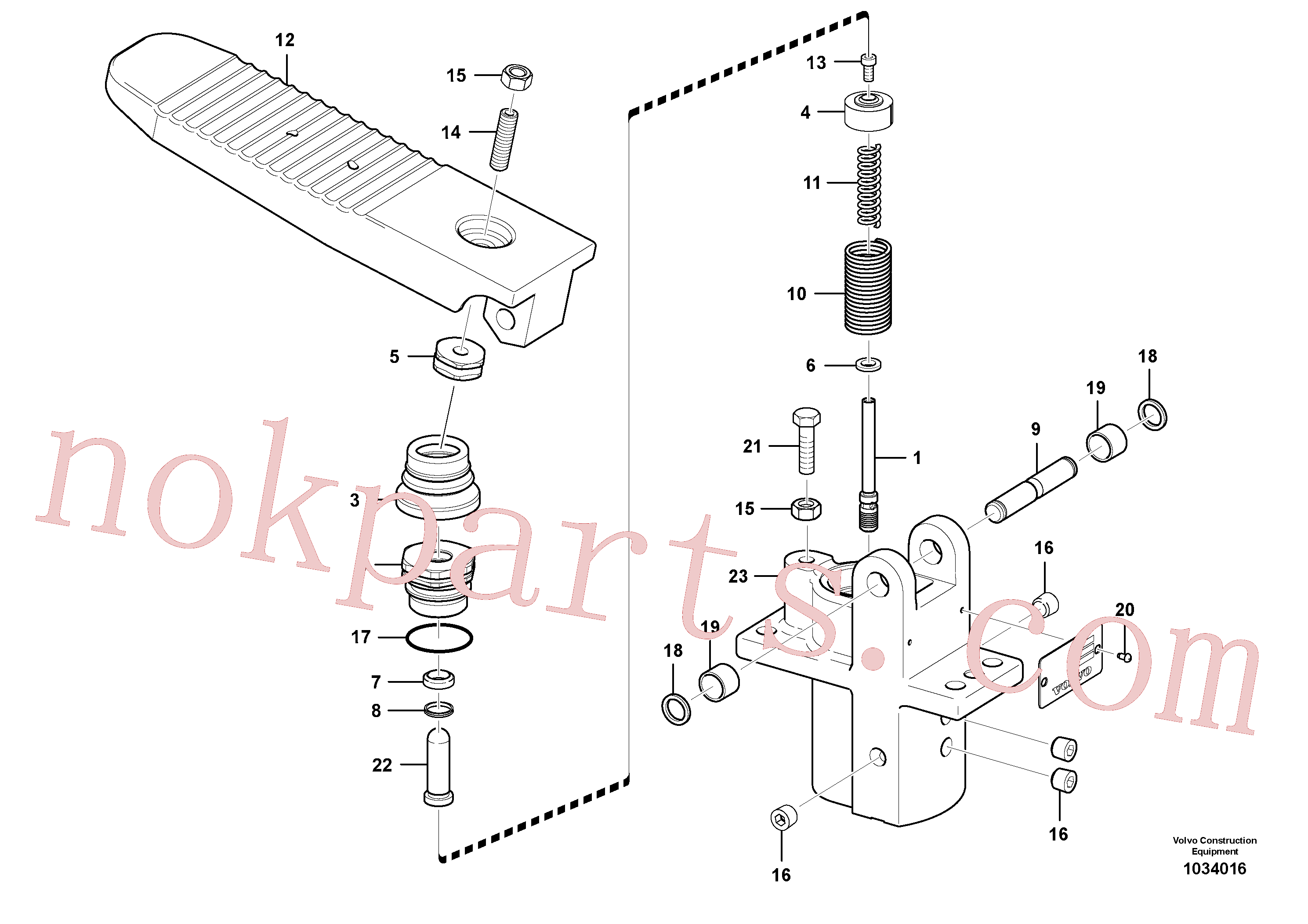 SA7263-00041 for Volvo Remote control valve pedal, travel motor(1034016 assembly)