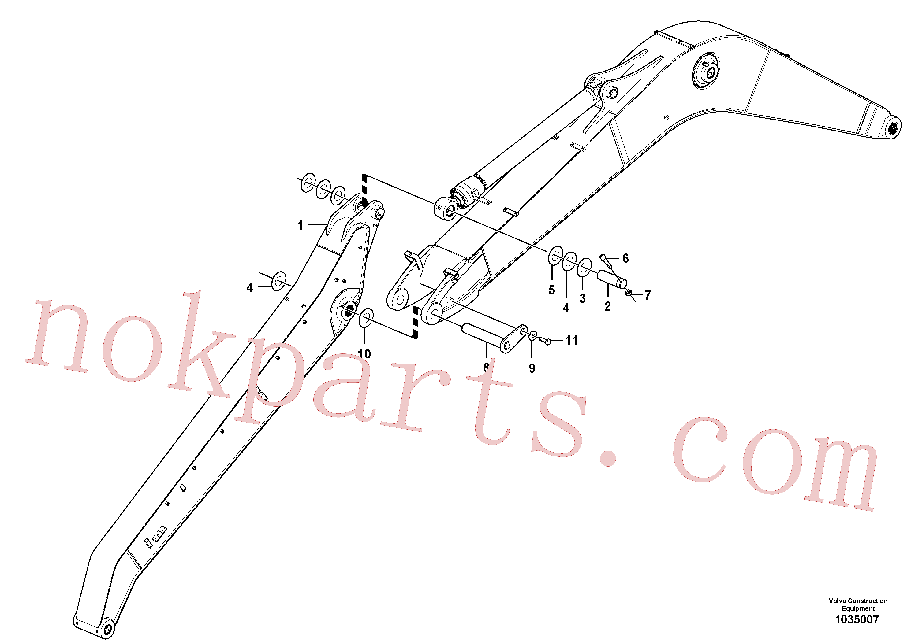 VOE14377910 for Volvo Links to boom(1035007 assembly)