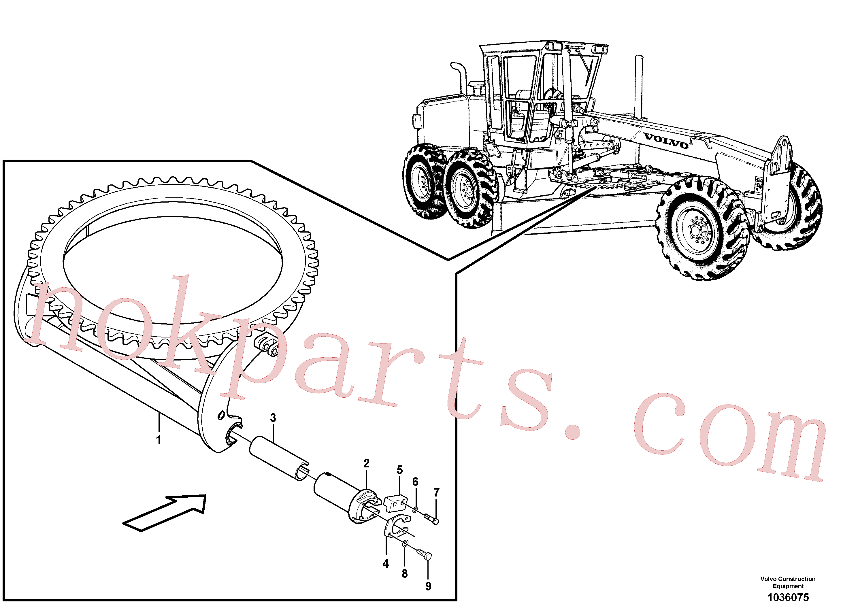 CH14A-06ZI for Volvo Circle turn - front(1036075 assembly)