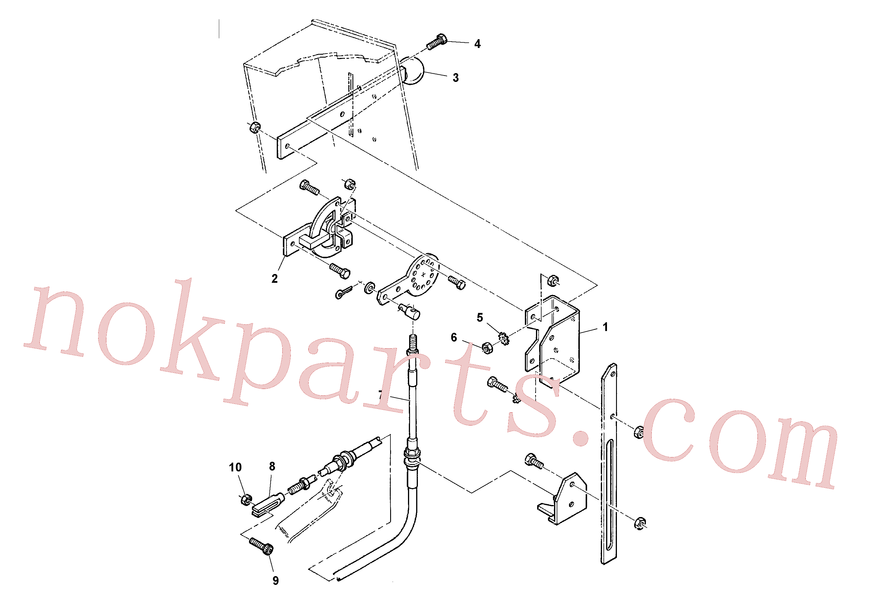 RM59901306 for Volvo Throttle Cable Installation(1036688 assembly)