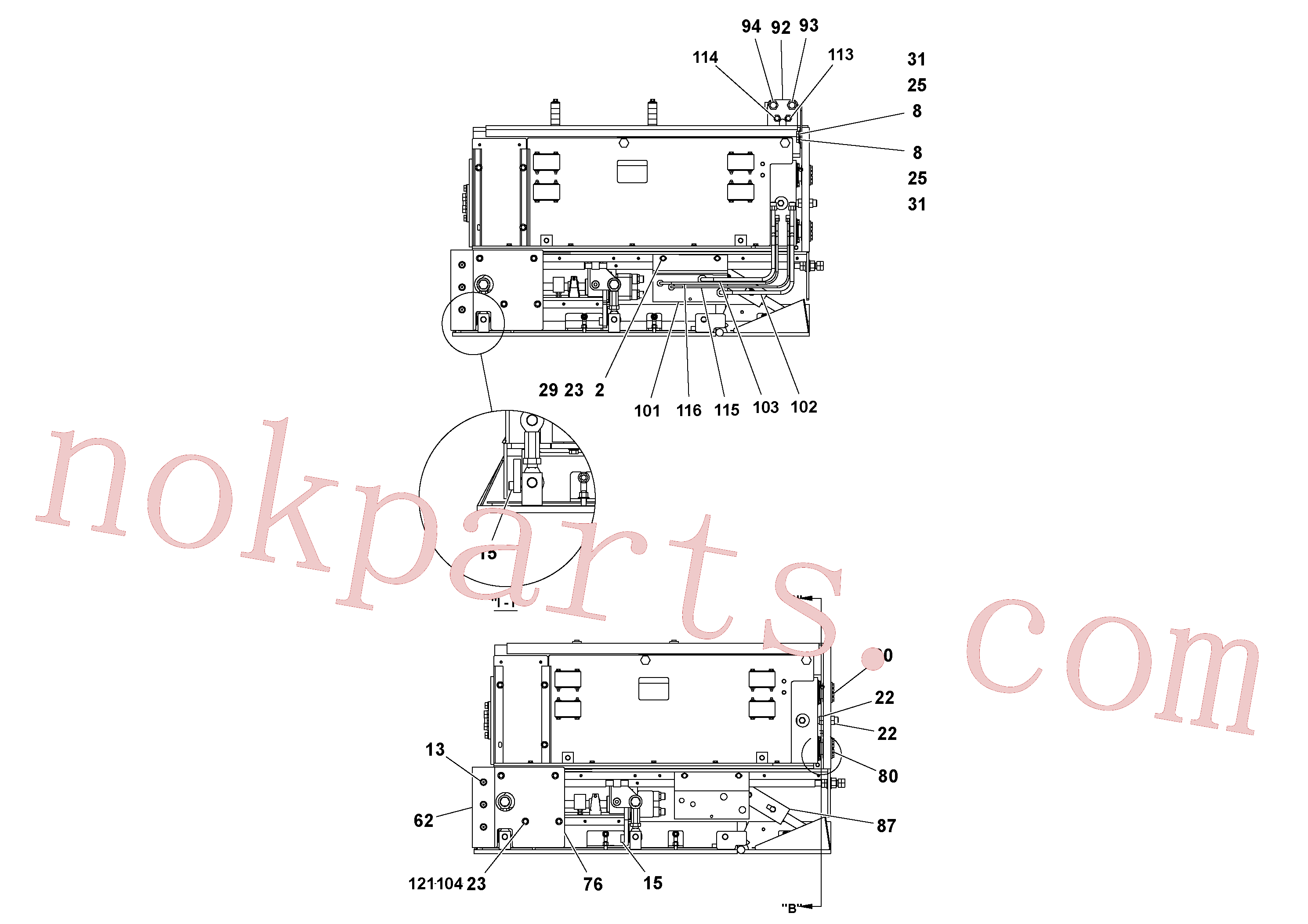 RM20313870 for Volvo 4' Extension Assembly(1036844 assembly)