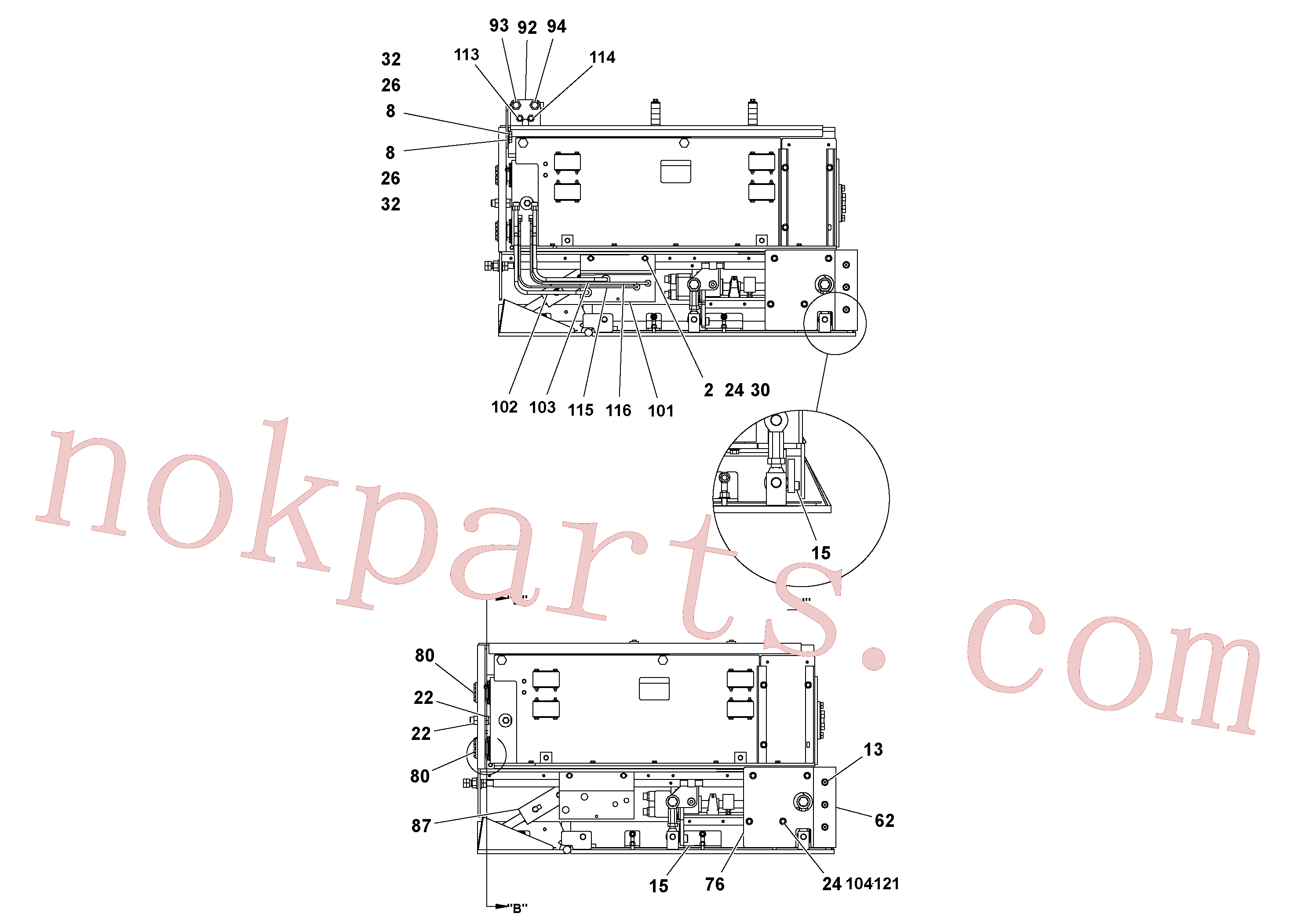 RM20328084 for Volvo 4' Extension Assembly(1036850 assembly)