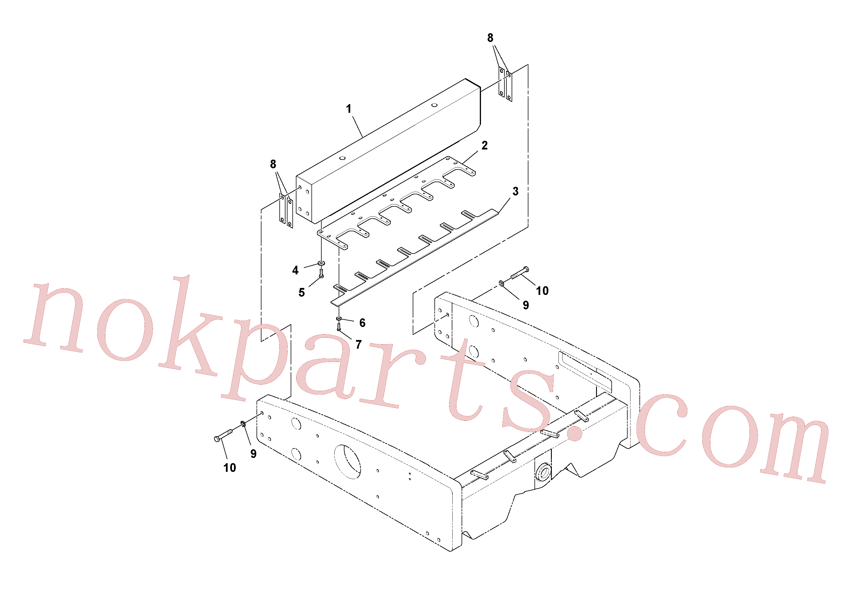 RM96702667 for Volvo Scraper Installation(1037860 assembly)